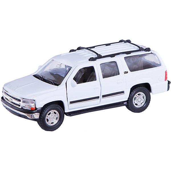 Модель машины 1:34-39 2001 CHEVROLET SUBURBAN, WellyМашинки<br>Коллекционная модель машины Welly масштаба 1:34-39 2001 CHEVROLET SUBURBAN. Функции: открываются передние двери, инерционный механизм.<br>Цвет кузова автомобиля представлен в ассортименте. Выбрать определенный цвет заранее не представляется возможным.<br>Ширина мм: 60; Глубина мм: 110; Высота мм: 150; Вес г: 156; Возраст от месяцев: 36; Возраст до месяцев: 192; Пол: Мужской; Возраст: Детский; SKU: 4966503;