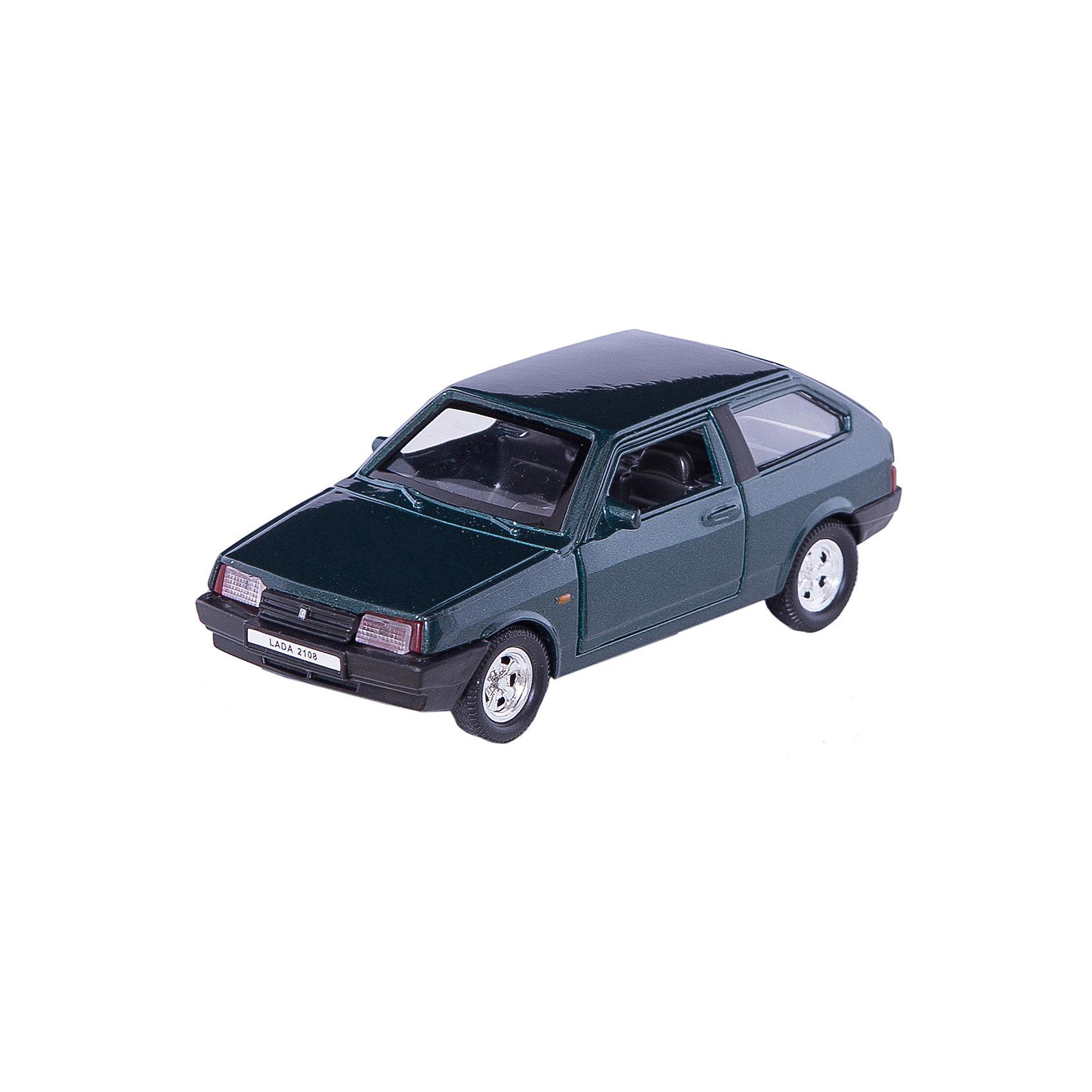 Модель машины 1:34-39 LADA 2108, WellyКоллекционные модели<br>Коллекционная модель машины Welly  масштаба 1:34-39 LADA 2108. Функции: открываются передние двери, инерционный механизм.<br>Цвет кузова автомобиля представлен в ассортименте. Выбрать определенный цвет заранее не представляется возможным.<br><br>Ширина мм: 60<br>Глубина мм: 110<br>Высота мм: 140<br>Вес г: 163<br>Возраст от месяцев: 36<br>Возраст до месяцев: 192<br>Пол: Мужской<br>Возраст: Детский<br>SKU: 4966505