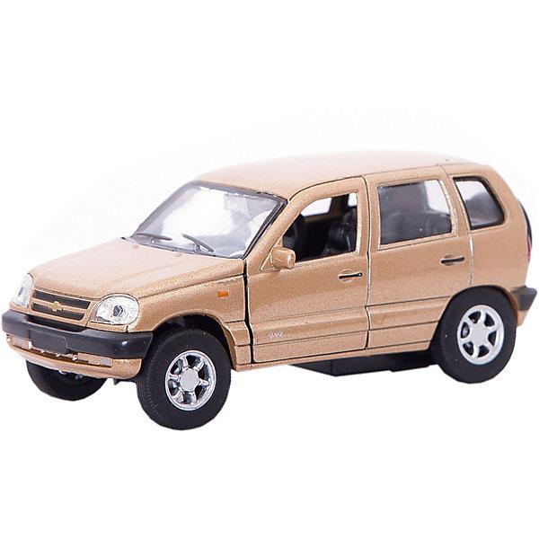 Модель машины 1:34-39 Chevrolet Niva, WellyМашинки<br>Коллекционная модель машины  масштаба 1:34-39 Chevrolet Niva. Функции: открываются передние двери, инерционный механизм.<br>Цвет кузова автомобиля представлен в ассортименте. Выбрать определенный цвет заранее не представляется возможным.<br><br>Ширина мм: 60<br>Глубина мм: 110<br>Высота мм: 150<br>Вес г: 165<br>Возраст от месяцев: 36<br>Возраст до месяцев: 192<br>Пол: Мужской<br>Возраст: Детский<br>SKU: 4966507