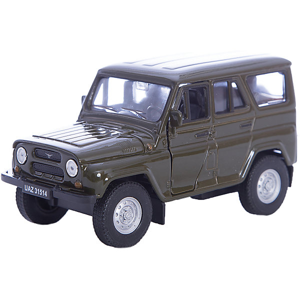Модель машины УАЗ  31514, WellyВоенный транспорт<br>Коллекционная модель машины УАЗ 31514 в масштабе 1:34-39 от Welly.<br>Автомобиль оснащён инерционным механизмом. Кузов автомобиля оснащён открывающимися дверьми и детально проработан.<br>Цвет кузова автомобиля представлен в ассортименте. Выбрать определенный цвет заранее не представляется возможным.<br><br>Ширина мм: 60<br>Глубина мм: 110<br>Высота мм: 150<br>Вес г: 202<br>Возраст от месяцев: 36<br>Возраст до месяцев: 192<br>Пол: Мужской<br>Возраст: Детский<br>SKU: 4966508