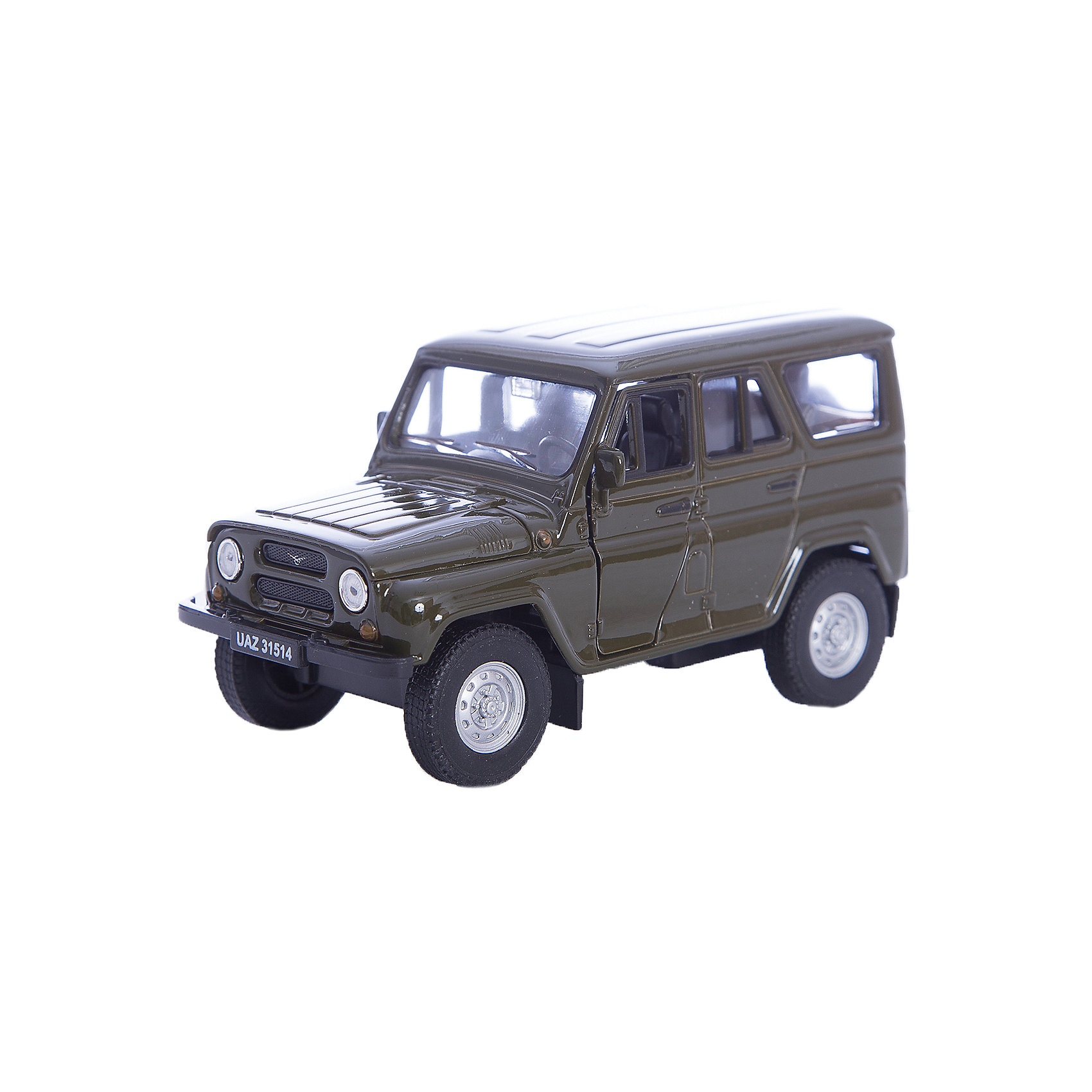 Модель машины УАЗ  31514, WellyКоллекционные модели<br>Коллекционная модель машины УАЗ 31514 в масштабе 1:34-39 от Welly.<br>Автомобиль оснащён инерционным механизмом. Кузов автомобиля оснащён открывающимися дверьми и детально проработан.<br>Цвет кузова автомобиля представлен в ассортименте. Выбрать определенный цвет заранее не представляется возможным.<br><br>Ширина мм: 60<br>Глубина мм: 110<br>Высота мм: 150<br>Вес г: 202<br>Возраст от месяцев: 36<br>Возраст до месяцев: 192<br>Пол: Мужской<br>Возраст: Детский<br>SKU: 4966508
