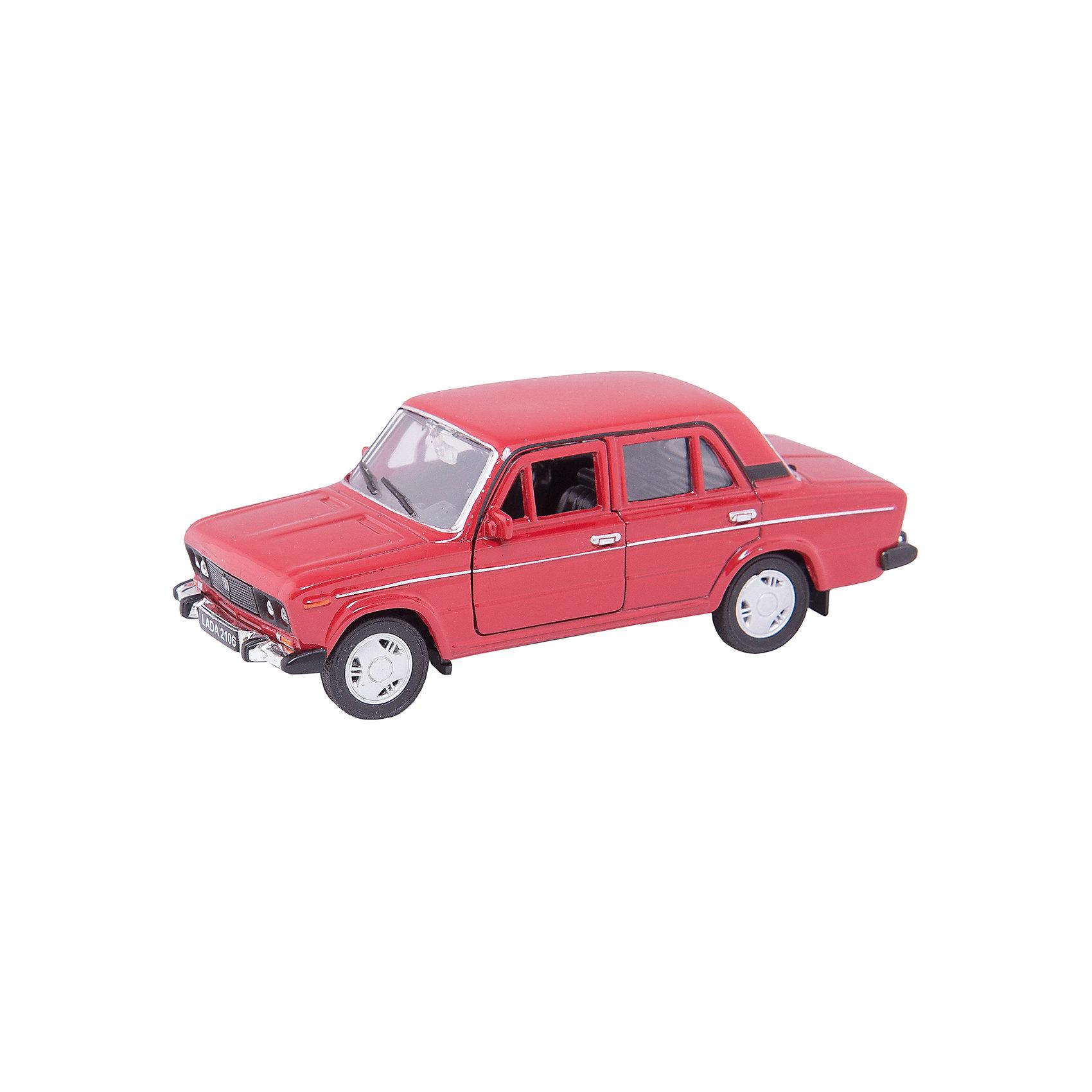 Модель машины 1:34-39 LADA 2106, WellyКоллекционные модели<br>Коллекционная модель машины  масштаба 1:34-39 LADA 2106. Функции: открываются передние двери, инерционный механизм.<br>Цвет кузова автомобиля представлен в ассортименте. Выбрать определенный цвет заранее не представляется возможным.<br><br>Ширина мм: 60<br>Глубина мм: 115<br>Высота мм: 140<br>Вес г: 182<br>Возраст от месяцев: 36<br>Возраст до месяцев: 192<br>Пол: Мужской<br>Возраст: Детский<br>SKU: 4966514