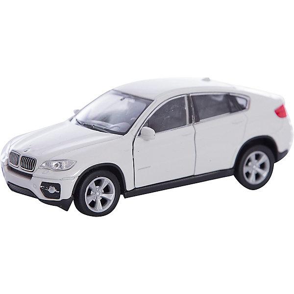 Модель машины 1:38  BMW X6, WellyМашинки<br>Коллекционная модель масштаба 1:34 BMW X6. Функции: открываются передние двери, инерционный механизм.<br>Цвет кузова автомобиля представлен в ассортименте. Выбрать определенный цвет заранее не представляется возможным.<br>Ширина мм: 60; Глубина мм: 110; Высота мм: 150; Вес г: 153; Возраст от месяцев: 36; Возраст до месяцев: 192; Пол: Мужской; Возраст: Детский; SKU: 4966524;