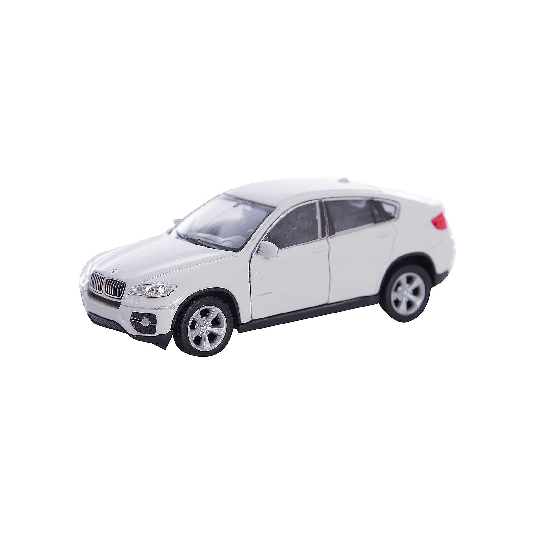Модель машины 1:38  BMW X6, WellyКоллекционные модели<br>Коллекционная модель масштаба 1:34 BMW X6. Функции: открываются передние двери, инерционный механизм.<br>Цвет кузова автомобиля представлен в ассортименте. Выбрать определенный цвет заранее не представляется возможным.<br><br>Ширина мм: 60<br>Глубина мм: 110<br>Высота мм: 150<br>Вес г: 153<br>Возраст от месяцев: 36<br>Возраст до месяцев: 192<br>Пол: Мужской<br>Возраст: Детский<br>SKU: 4966524