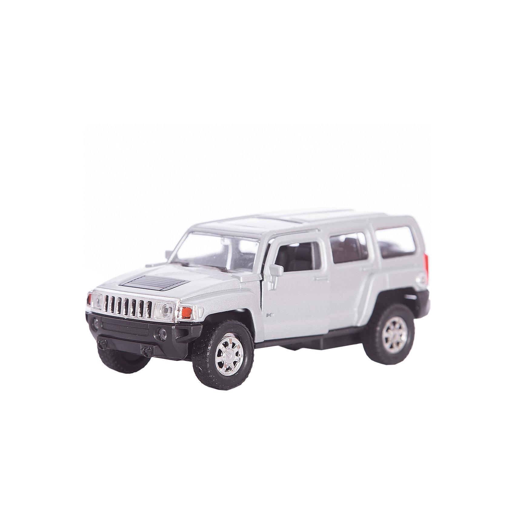 Модель машины 1:34-39 Hummer H3, WellyКоллекционные модели<br>Коллекционная модель машины масштаба 1:34-39 Hummer H3. Функции: открываются передние двери, инерционный механизм.<br>Цвет кузова автомобиля представлен в ассортименте. Выбрать определенный цвет заранее не представляется возможным.<br><br>Ширина мм: 60<br>Глубина мм: 110<br>Высота мм: 150<br>Вес г: 159<br>Возраст от месяцев: 36<br>Возраст до месяцев: 192<br>Пол: Мужской<br>Возраст: Детский<br>SKU: 4966525