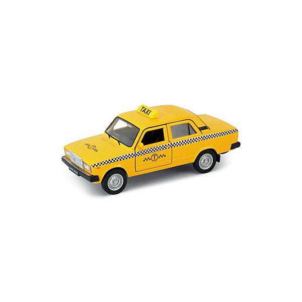 Модель машины  1:34-39 LADA 2107 ТАКСИ, WellyМашинки<br>Коллекционная модель машины Welly 1:34-39 LADA 2107 ТАКСИ.<br>Цвет кузова автомобиля представлен в ассортименте. Выбрать определенный цвет заранее не представляется возможным.<br><br>Ширина мм: 60<br>Глубина мм: 115<br>Высота мм: 145<br>Вес г: 166<br>Возраст от месяцев: 36<br>Возраст до месяцев: 192<br>Пол: Мужской<br>Возраст: Детский<br>SKU: 4966531
