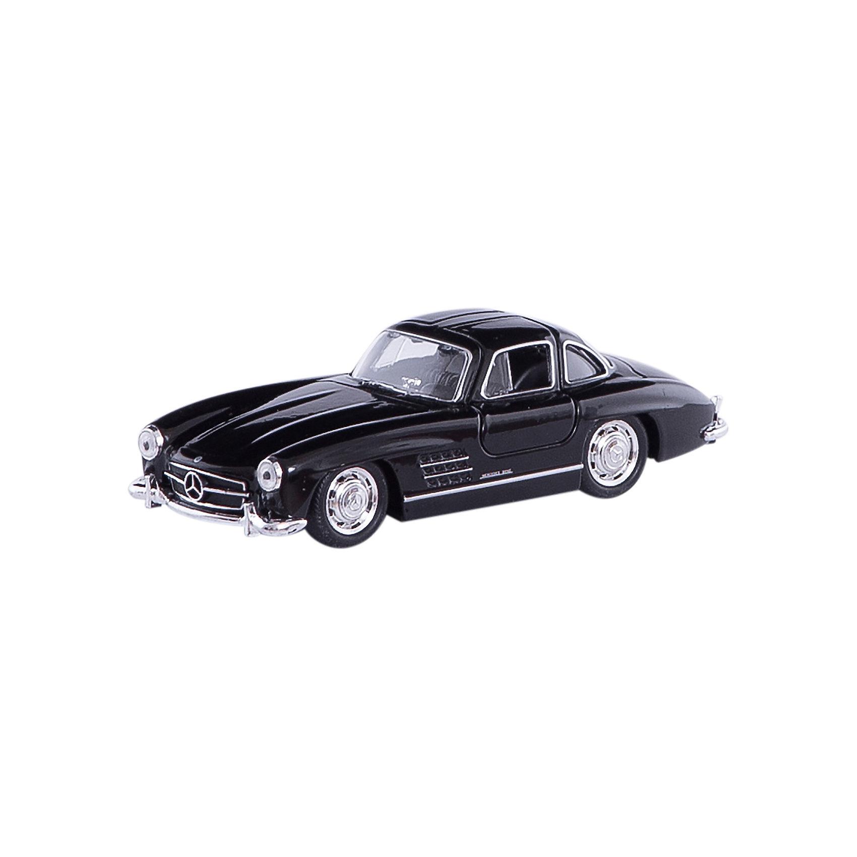 Модель винтажной машины 1:34-39 Mercedes-Benz 300SL, WellyКоллекционные модели<br>Коллекционная модель винтажной машины Welly 1:34-39 Mercedes-Benz 300SL. Функции: открываются передние двери, инерционный механизм.<br>Цвет кузова автомобиля представлен в ассортименте. Выбрать определенный цвет заранее не представляется возможным.<br><br>Ширина мм: 60<br>Глубина мм: 110<br>Высота мм: 150<br>Вес г: 133<br>Возраст от месяцев: 36<br>Возраст до месяцев: 192<br>Пол: Мужской<br>Возраст: Детский<br>SKU: 4966539
