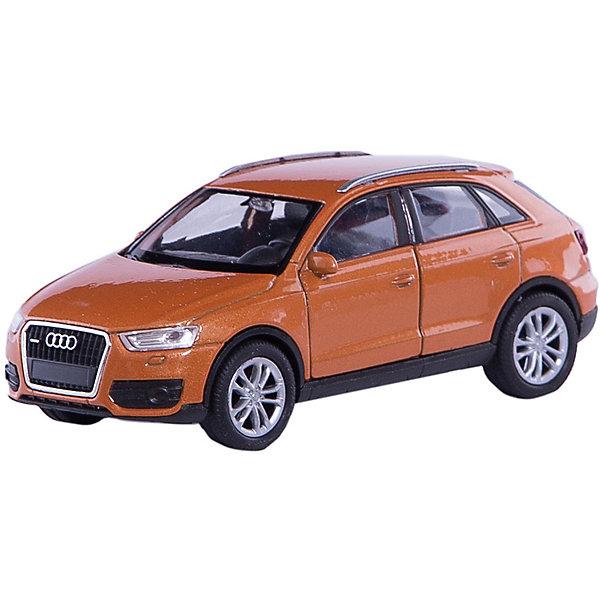 Модель машины 1:34-39 Audi Q3, WellyМашинки<br>Коллекционная модель машины 1:34-39 Audi Q3 от известного производителя Welly - это точная уменьшенная копия автомобиля этой марки. Машинка выполнена из материалов высокого качества, прочных и долговечных. Цвет кузова автомобиля представлен в ассортименте. Выбрать определенный цвет заранее не представляется возможным.<br><br>Ширина мм: 145<br>Глубина мм: 115<br>Высота мм: 60<br>Вес г: 154<br>Возраст от месяцев: 36<br>Возраст до месяцев: 192<br>Пол: Мужской<br>Возраст: Детский<br>SKU: 4966540
