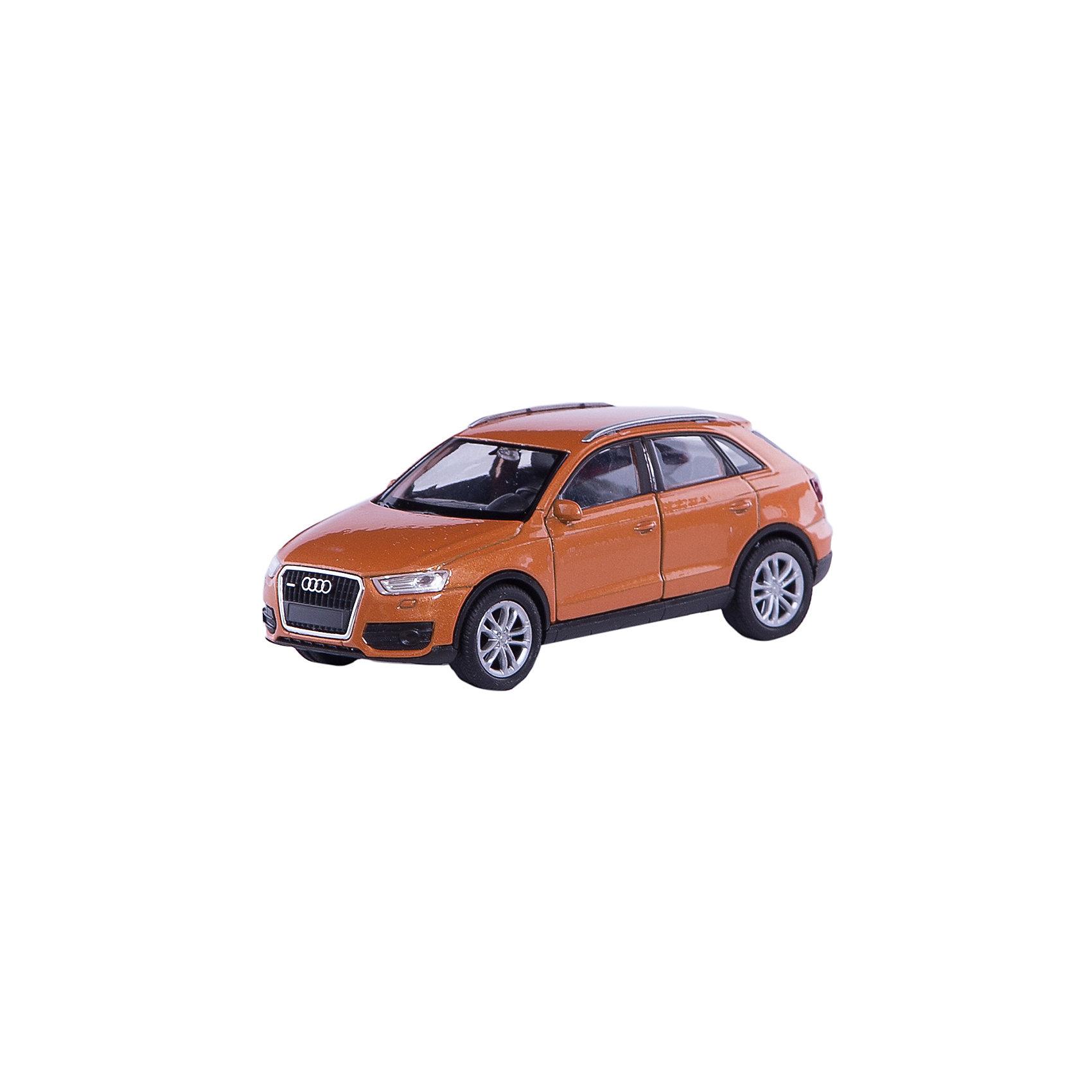 Модель машины 1:34-39 Audi Q3, WellyКоллекционные модели<br>Коллекционная модель машины 1:34-39 Audi Q3 от известного производителя Welly - это точная уменьшенная копия автомобиля этой марки. Машинка выполнена из материалов высокого качества, прочных и долговечных. Цвет кузова автомобиля представлен в ассортименте. Выбрать определенный цвет заранее не представляется возможным.<br><br>Ширина мм: 145<br>Глубина мм: 115<br>Высота мм: 60<br>Вес г: 154<br>Возраст от месяцев: 36<br>Возраст до месяцев: 192<br>Пол: Мужской<br>Возраст: Детский<br>SKU: 4966540