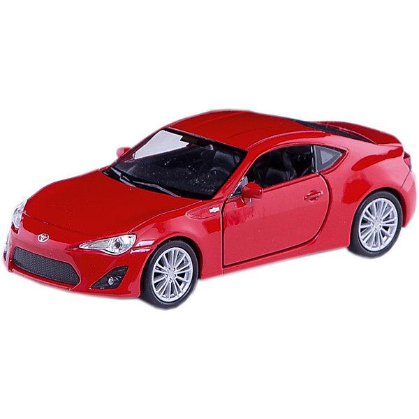 Модель машины 1:34-39 Toyota 86, WellyМашинки<br>Коллекционная модель машины от известного производителя Welly является точной копией автомобиля Toyota 86, выполненной в масштабе 1:34. Это мощная спортивная машина с потрясающими техническими характеристиками и дерзким дизайном, созданная совместными усилиями компаний Toyota и Subaru. Над ее внешним видом трудился целый штат высококвалифицированных дизайнеров Toyota, результатом стал поистине роскошный дизайн этого концептуального автомобиля-купе.<br>Модель выглядит очень реалистично, тщательно детализирована и функциональна - у нее вращаются колеса, открываются двери. Цвет кузова автомобиля представлен в ассортименте. Выбрать определенный цвет заранее не представляется возможным.<br>Ширина мм: 150; Глубина мм: 110; Высота мм: 60; Вес г: 14; Возраст от месяцев: 36; Возраст до месяцев: 192; Пол: Мужской; Возраст: Детский; SKU: 4966542;