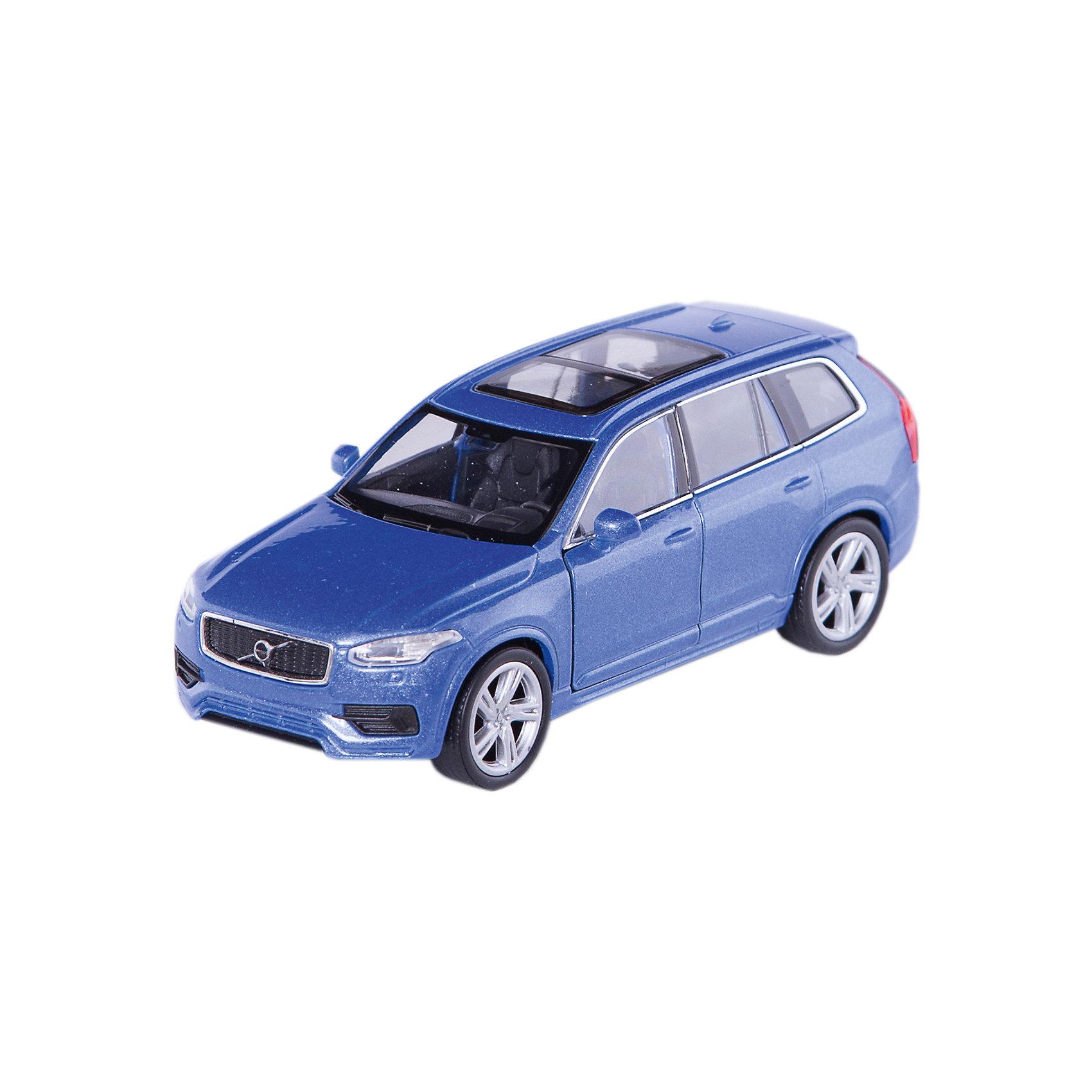 Модель машины 1:34-39 Volvo XC90, WellyКоллекционные модели<br>Коллекционная модель автомобиля Volvo XC90. Машинка спроектирована в масштабе 1:34-39. Она обладает инерционным механизмом колес. Модель очень реалистична и выполнена из металла с некоторыми элементами, сделанными из пластика. Передние дверцы автомобиля открываются. Все мелкие детали очень точно исполнены и аккуратно окрашены. Корпус игрушки крепкий и надежный.  Цвет кузова автомобиля представлен в ассортименте. Выбрать определенный цвет заранее не представляется возможным.<br><br>Ширина мм: 60<br>Глубина мм: 110<br>Высота мм: 150<br>Вес г: 160<br>Возраст от месяцев: 36<br>Возраст до месяцев: 192<br>Пол: Мужской<br>Возраст: Детский<br>SKU: 4966544