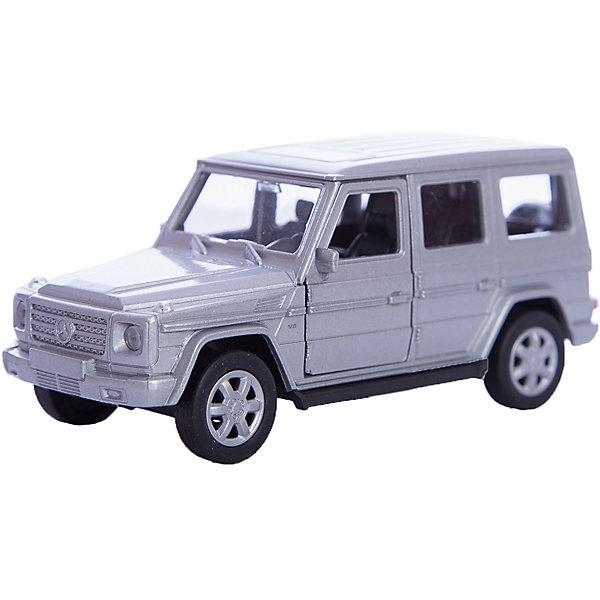 Модель машины 1:34-39 Mercedes-Benz G-Class, WellyМашинки<br>Коллекционная машинка от фирмы Welly Mercedes-Benz G-Class выглядит совсем как настоящее авто, которое можно встретить в автосалоне или на улицах. Мини-копия прекрасно детализирована. Передние дверцы открываются. А колеса оснащены инерционным механизмом.  Цвет кузова автомобиля представлен в ассортименте. Выбрать определенный цвет заранее не представляется возможным.<br>Ширина мм: 60; Глубина мм: 110; Высота мм: 150; Вес г: 171; Возраст от месяцев: 36; Возраст до месяцев: 192; Пол: Мужской; Возраст: Детский; SKU: 4966545;