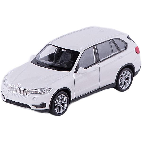 Модель машины 1:34-39 BMW X5, WellyМашинки<br>Коллекционная модель машины BMW X5 от Welly выполнена в точном соответствии с оригиналом. У машинки открывается капот и двери.<br>Эта модель машины создана на основе реальной модели БМВ X5, выпуск которой начался в 2013 году. Это вместительный, среднеразмерный кроссовер, способный преодолеть самые разные препятствия на дороге. Модель Welly выполнена в белом цвете, салон детализирован. Масштаб - 1:34-39.  Цвет кузова автомобиля представлен в ассортименте. Выбрать определенный цвет заранее не представляется возможным.<br><br>Ширина мм: 60<br>Глубина мм: 110<br>Высота мм: 150<br>Вес г: 163<br>Возраст от месяцев: 36<br>Возраст до месяцев: 192<br>Пол: Мужской<br>Возраст: Детский<br>SKU: 4966546