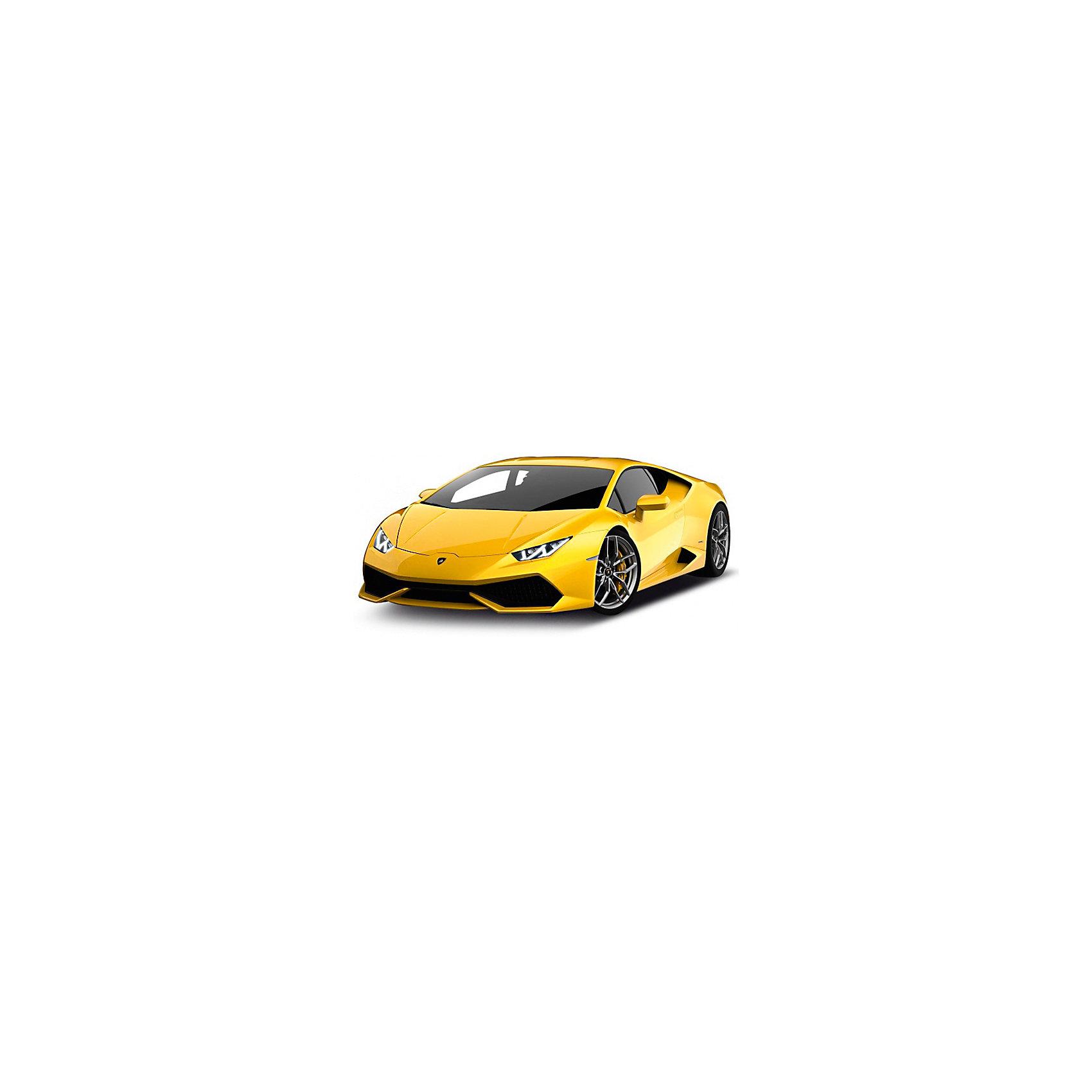 Модель машины 1:34-39 Lamborghini HURACAN LP 610-4, WellyКоллекционные модели<br>Коллекционная модель машины Lamborghini Huracan от Welly выполнена в точном соответствии с оригиналом. У машинки открывается капот и двери.<br>Прототип - спортивный автомобиль Ламборжини Уракан, впервые представленный широкой публике в 2014 году. Своим необычным названием модель обязана богу ветров майа. Так создатели хотели подчеркнуть быстроту и легкость автомобиля. Настоящий Lamborghini Huracan способен развивать скорость до 325 км/ч. Модель Lamborghini от Welly выполнена в стандартном желтом цвете. Ее масштаб составляет 1:34-39.  Цвет кузова автомобиля представлен в ассортименте. Выбрать определенный цвет заранее не представляется возможным.<br><br>Ширина мм: 60<br>Глубина мм: 110<br>Высота мм: 150<br>Вес г: 141<br>Возраст от месяцев: 36<br>Возраст до месяцев: 192<br>Пол: Мужской<br>Возраст: Детский<br>SKU: 4966547