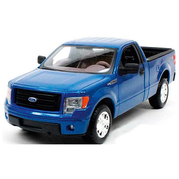 Модель машины 1:34-39 Ford F-150, WellyМашинки<br>Коллекционная модель машины Ford-150 от компании Welly является точной копией своего прототипа, выполненной в масштабе 1:34. Машинка выполнена из высококачественных материалов, у нее крутятся колеса, открываются двери и капот.<br><br>Ширина мм: 150<br>Глубина мм: 110<br>Высота мм: 60<br>Вес г: 151<br>Возраст от месяцев: 36<br>Возраст до месяцев: 192<br>Пол: Мужской<br>Возраст: Детский<br>SKU: 4966548