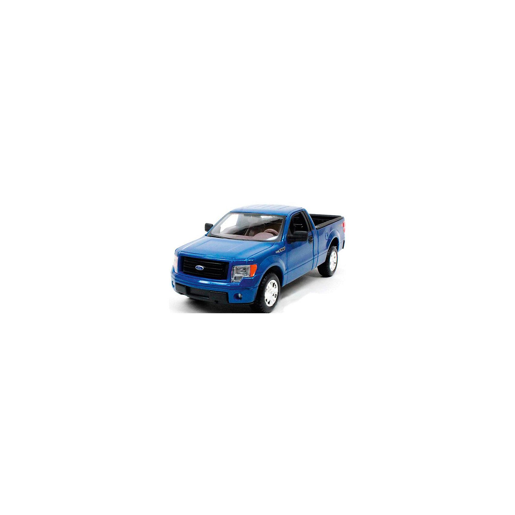 Модель машины 1:34-39 Ford F-150, WellyКоллекционные модели<br>Коллекционная модель машины Ford-150 от компании Welly является точной копией своего прототипа, выполненной в масштабе 1:34. Машинка выполнена из высококачественных материалов, у нее крутятся колеса, открываются двери и капот.<br><br>Ширина мм: 150<br>Глубина мм: 110<br>Высота мм: 60<br>Вес г: 151<br>Возраст от месяцев: 36<br>Возраст до месяцев: 192<br>Пол: Мужской<br>Возраст: Детский<br>SKU: 4966548