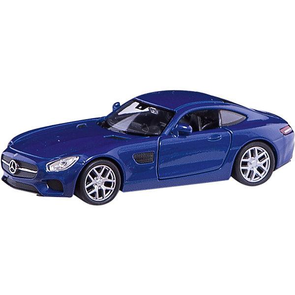 Модель машины 1:34-39 Mercedes-Benz AMG GT, WellyМашинки<br>Коллекционная модель машины 1:34-39 Mercedes-Benz AMG GT от производителя Welly (Велли). В ассортименте представлены коллекционные машины 4 цветов: белого, серебристого, красного и синего. Модели выполнены очень качественно, открываются двери и вращаются колеса, интерьер салона также тщательно детализирован. Машина представлена в цветовом ассортименте, доставка выбранного варианта в поставке не гарантирована.<br><br>Ширина мм: 150<br>Глубина мм: 120<br>Высота мм: 60<br>Вес г: 154<br>Возраст от месяцев: 36<br>Возраст до месяцев: 192<br>Пол: Мужской<br>Возраст: Детский<br>SKU: 4966549