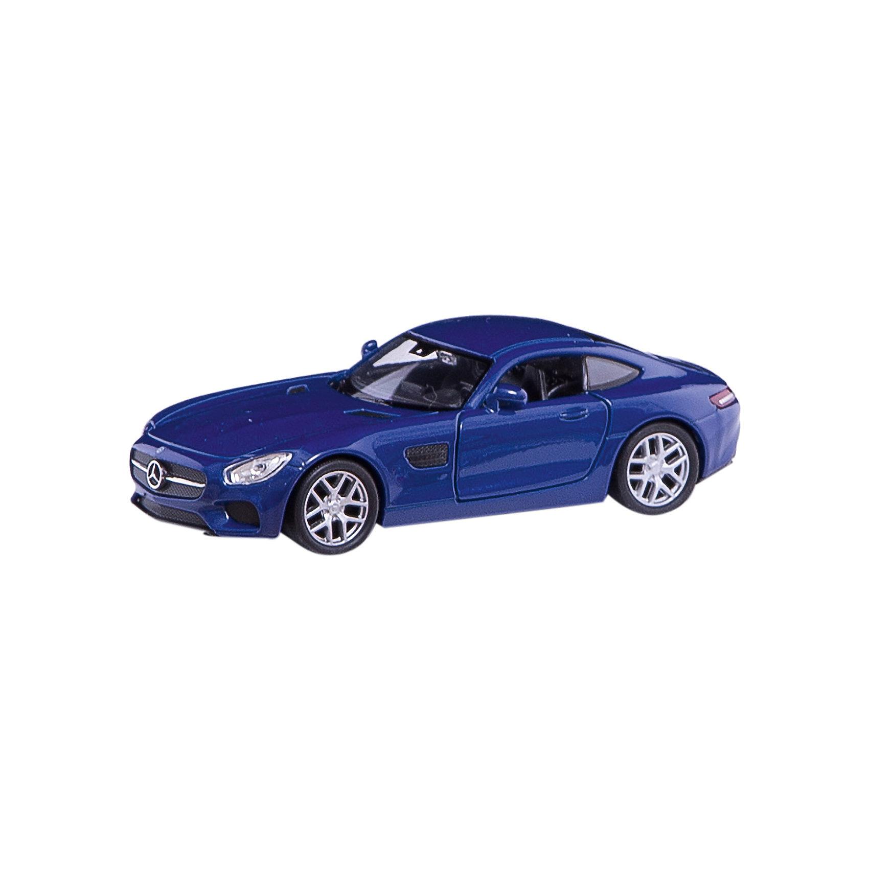 Модель машины 1:34-39 Mercedes-Benz AMG GT, WellyКоллекционные модели<br>Коллекционная модель машины 1:34-39 Mercedes-Benz AMG GT от производителя Welly (Велли). В ассортименте представлены коллекционные машины 4 цветов: белого, серебристого, красного и синего. Модели выполнены очень качественно, открываются двери и вращаются колеса, интерьер салона также тщательно детализирован. Машина представлена в цветовом ассортименте, доставка выбранного варианта в поставке не гарантирована.<br><br>Ширина мм: 150<br>Глубина мм: 120<br>Высота мм: 60<br>Вес г: 154<br>Возраст от месяцев: 36<br>Возраст до месяцев: 192<br>Пол: Мужской<br>Возраст: Детский<br>SKU: 4966549