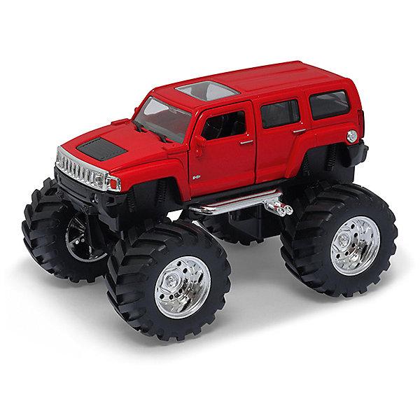 Модель машины 1:34-39 Hammer H3 Big Wheel, WellyМашинки<br>Коллекционная модель автомобиля Hammer H3 с большими колесами, выполненная в масштабе 1:34-39. Корпус автомобиля выполнен из пластика, колеса – из резины, авто оснащено мощными металлическими амортизаторами. Цвет кузова представлен в ассортименте, выбранный вариант в поставке не гарантирован.<br>Ширина мм: 155; Глубина мм: 95; Высота мм: 100; Вес г: 291; Возраст от месяцев: 36; Возраст до месяцев: 192; Пол: Мужской; Возраст: Детский; SKU: 4966550;