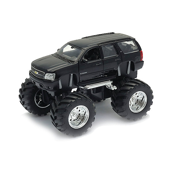 Модель машины 1:34-39 Chevrolet Tahoe Big Wheel, WellyМашинки<br>Коллекционная модель автомобиля Chevrolet Tahoe с большими колесами, выполненная в масштабе 1:34-39. Корпус автомобиля выполнен из пластика, колеса – из резины, авто оснащено мощными металлическими амортизаторами. Цвет кузова представлен в ассортименте, выбранный вариант в поставке не гарантирован.<br><br>Ширина мм: 155<br>Глубина мм: 95<br>Высота мм: 100<br>Вес г: 294<br>Возраст от месяцев: 36<br>Возраст до месяцев: 192<br>Пол: Мужской<br>Возраст: Детский<br>SKU: 4966551