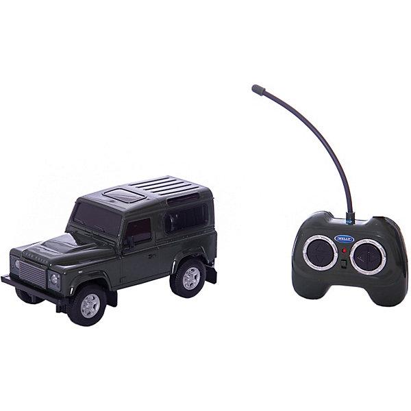 Модель машины 1:24 Land Rover Defender, р/у, WellyРадиоуправляемые машины<br>Модель машины 1:24 Land Rover Defender, р/у, Welly (Велли). <br><br>Характеристика:<br><br>• Материал: металл, пластик, резина.  <br>• Размер упаковки: 26х11х13 см.<br>• Масштаб: 1:24.<br>• Комплектация: пульт ДУ, автомобиль. <br>• Элемент питания: для машины - 3 АА батарейки; пульт управления -  2 АА батарейки (не входят в комплект). <br><br>ВНИМАНИЕ! Данный артикул представлен в разных цветовых вариантах. К сожалению, заранее выбрать определенный цвет невозможно. При заказе нескольких игрушек возможно получение одинаковых.<br><br>Роскошный внедорожник на радиоуправлении приведет в восторг любого мальчишку! Кузов машины прекрасно детализирован и реалистично раскрашен. Модель может перемещаться во всех направлениях. Отличный подарок для вашего юного гонщика!<br><br>Модель машины 1:24 Land Rover Defender, р/у, Welly (Велли), можно купить в нашем-интернет магазине.<br><br>Ширина мм: 110<br>Глубина мм: 130<br>Высота мм: 260<br>Вес г: 529<br>Возраст от месяцев: 36<br>Возраст до месяцев: 192<br>Пол: Мужской<br>Возраст: Детский<br>SKU: 4966558