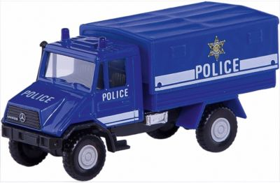Модель грузовика с кузовом Полиция, Welly