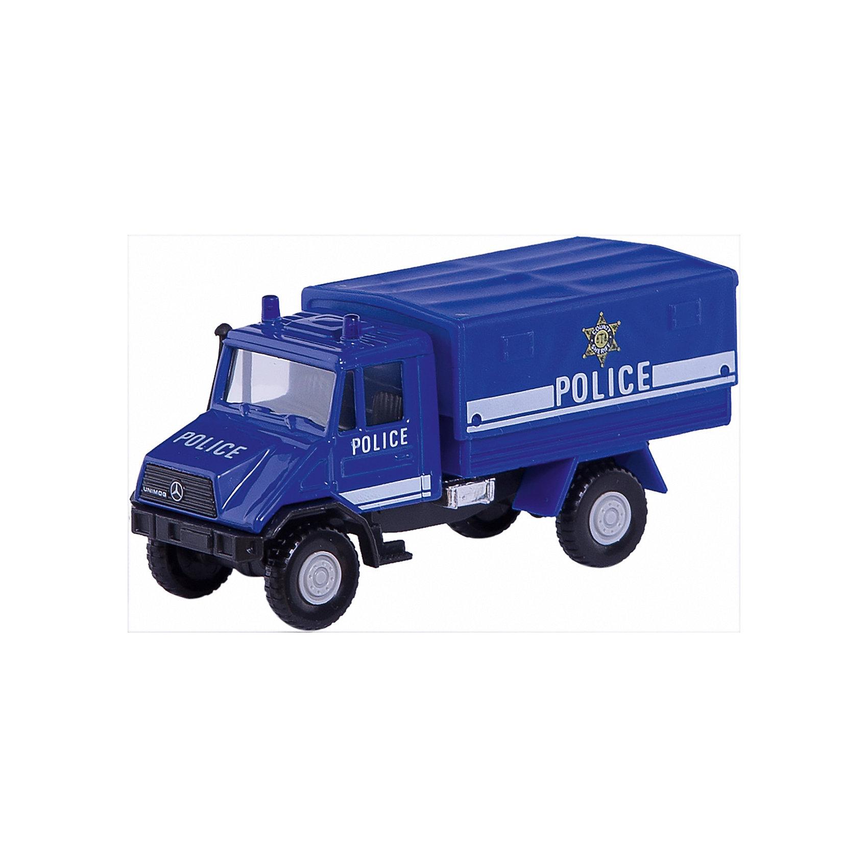 Модель грузовика с кузовом Полиция, WellyКоллекционные модели<br>Коллекционная модель полицейского грузовика от Welly. Корпус автомобиля выполнен из пластика, колеса – из резины.<br><br>Ширина мм: 170<br>Глубина мм: 80<br>Высота мм: 60<br>Вес г: 143<br>Возраст от месяцев: 36<br>Возраст до месяцев: 192<br>Пол: Мужской<br>Возраст: Детский<br>SKU: 4966563