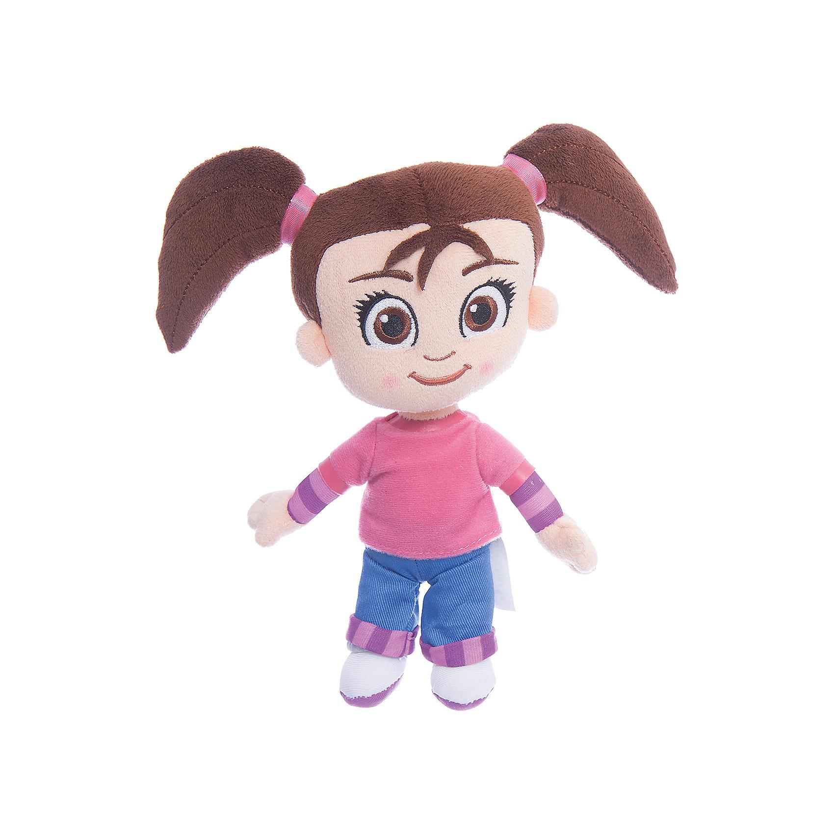 Мягкая кукла Катя, 20 см, Катя и Мим-МимМягкие куклы<br>Мягконабивная кукла, выполненная в виде главной героини популярного мультфильма для детей «Катя и Мим Мим», высотой 20 см. Кукла изготовлена только из мягких текстильных материалов, без использования пластиковых деталей. Симпатичное улыбчивое личико вышито цветными нитками, наполнитель – чистый гипоаллергенный синтепон. Игрушку можно стирать с использованием мягких моющих средств.<br><br>Ширина мм: 90<br>Глубина мм: 110<br>Высота мм: 90<br>Вес г: 147<br>Возраст от месяцев: 36<br>Возраст до месяцев: 120<br>Пол: Женский<br>Возраст: Детский<br>SKU: 4967258
