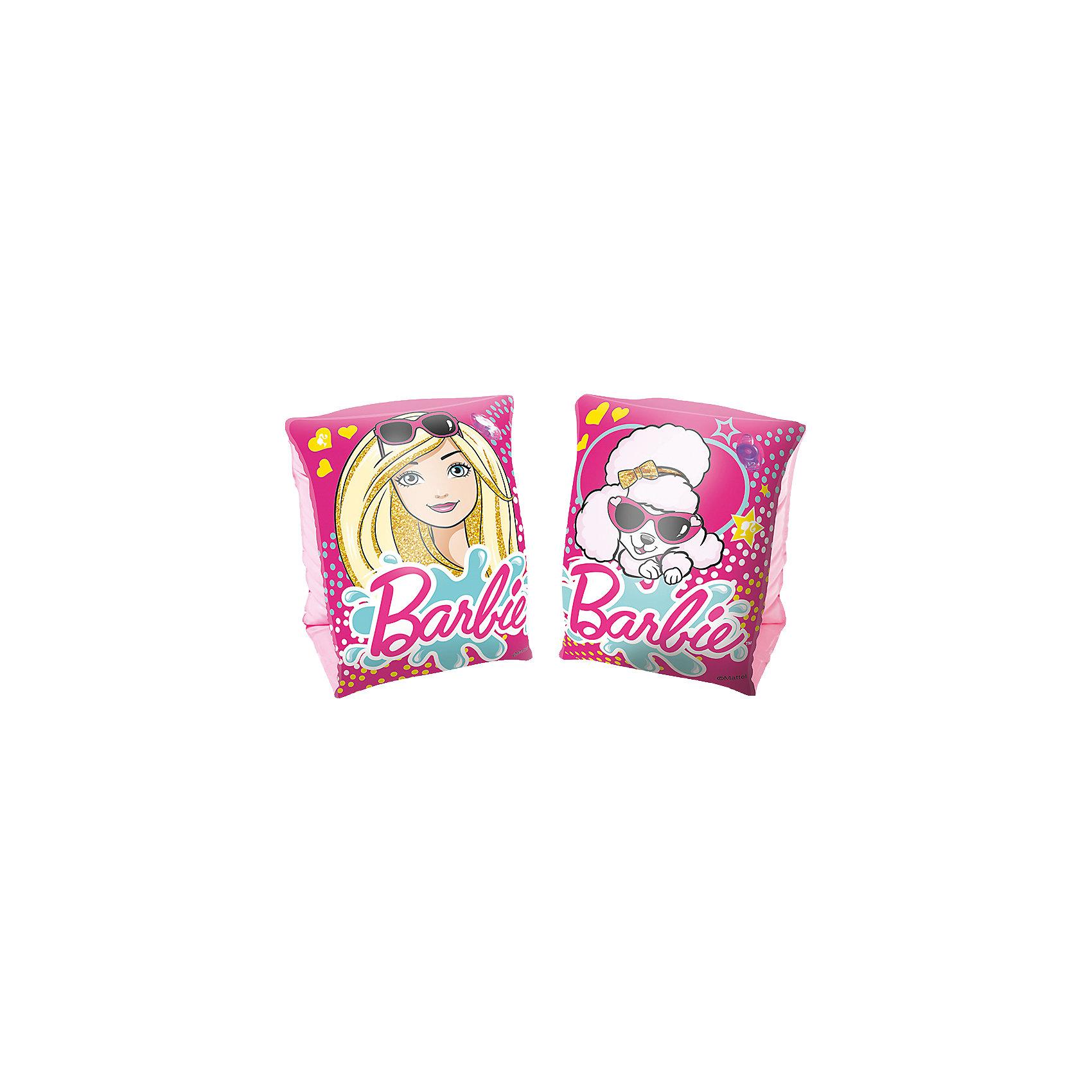 Нарукавники для плавания, Barbie, BestwayКруги и нарукавники<br>Характеристики товара:<br><br>• материал: полимер<br>• размер: 23х15 см<br>• легкий материал<br>• для начинающих плавать<br>• надувные<br>• яркие цвета<br>• хорошо заметны на воде<br>• возраст: от 3 до 6 лет<br>• страна бренда: США, Китай<br>• страна производства: Китай<br><br>Это отличный способ научить малышей плавать и обеспечить детям веселое времяпровождение! Нарукавники помогут ребенку больше двигаться и поддерживать хорошую физическую форму.<br><br>Предметы сделаны из прочного материала, но очень легкого - они отлично держатся на воде. Предметы легкие, их удобно брать с собой. Изделия произведены из качественных и безопасных для детей материалов.<br><br>Нарукавники для плавания, Barbie, от бренда Bestway (Бествей) можно купить в нашем интернет-магазине.<br><br>Ширина мм: 192<br>Глубина мм: 121<br>Высота мм: 30<br>Вес г: 108<br>Возраст от месяцев: 36<br>Возраст до месяцев: 96<br>Пол: Женский<br>Возраст: Детский<br>SKU: 4967573