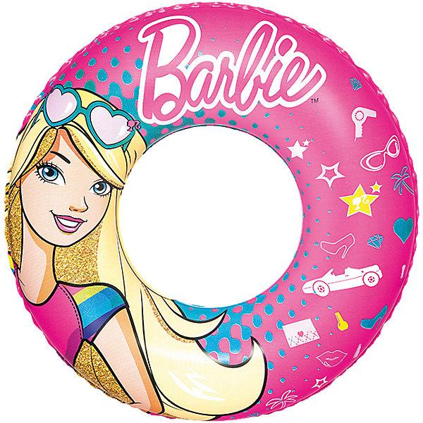 Круг для плавания, Barbie, 56 см, BestwayКруги и нарукавники<br>Характеристики товара:<br><br>• материал: винил<br>• размер: 56 см<br>• легкий прочный материал<br>• легко надувается и сдувается<br>• надувной <br>• яркий цвет<br>• комфортный<br>• хорошо заметен на воде<br>• возраст: от 3 лет<br>• страна бренда: США, Китай<br>• страна производства: Китай<br><br>Это отличный способ научить малышей не бояться воды и обеспечить детям веселое времяпровождение! Круг поможет ребенку больше времени проводить на воде.<br><br>Предмет сделан из прочного материала, но очень легкого - отлично держится на воде. Круг легкий, его удобно брать с собой. Изделие произведено из качественных и безопасных для детей материалов.<br><br>Круг для плавания 56 см, Barbie, от бренда Bestway (Бествей) можно купить в нашем интернет-магазине.<br>Ширина мм: 195; Глубина мм: 124; Высота мм: 30; Вес г: 128; Возраст от месяцев: 36; Возраст до месяцев: 96; Пол: Женский; Возраст: Детский; SKU: 4967574;