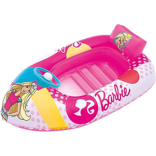 Надувная лодочка, Barbie, BestwayМатрасы и лодки<br>Характеристики товара:<br><br>• материал: винил<br>• размер: 114х71 см<br>• легкий материал<br>• надувная <br>• яркий цвет<br>• комфортная<br>• хорошо заметна на воде<br>• возраст: от 3 лет<br>• страна бренда: США, Китай<br>• страна производства: Китай<br><br>Это отличный способ научить малышей не бояться воды и обеспечить детям веселое времяпровождение! Лодка поможет ребенку больше времени проводить на воде.<br><br>Предмет сделан из прочного материала, но очень легкого - отлично держится на воде. Он легкий, его удобно брать с собой. Изделие произведено из качественных и безопасных для детей материалов.<br><br>Надувную лодочку, Barbie, от бренда Bestway (Бествей) можно купить в нашем интернет-магазине.<br><br>Ширина мм: 75<br>Глубина мм: 240<br>Высота мм: 230<br>Вес г: 633<br>Возраст от месяцев: 48<br>Возраст до месяцев: 96<br>Пол: Женский<br>Возраст: Детский<br>SKU: 4967576