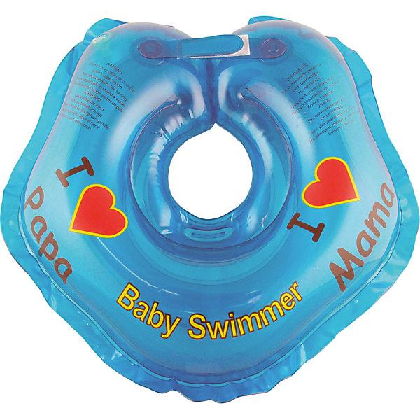 Круг для купания BabySwimmer, голубойТовары для купания<br>Купание младенца - ответственное и важное занятие. Круг для купания Baby Swimmer  обеспечит безопасность процесса, избавит малыша от страха воды и сделает водные процедуры веселой игрой. У круга есть устройство, поддерживающее подбородок, что позволит избежать проглатывание воды малышом. У круга яркие цвета, необычный дизайн и веселые картинки по бокам, которые понравится всем детям. Все материалы, использованные при разработке и изготовлении круга для купания безопасны для использования, отвечают всем требованиям экологичности и качества детских товаров, а так же гипоаллергенны.<br><br>Дополнительная информация:<br><br>модель: Baby Swimmer;<br>цвет: голубой.<br><br>Круг для купания Baby Swimmer можно приобрести в нашем магазине.<br><br>Ширина мм: 150<br>Глубина мм: 40<br>Высота мм: 150<br>Вес г: 140<br>Возраст от месяцев: 0<br>Возраст до месяцев: 24<br>Пол: Унисекс<br>Возраст: Детский<br>SKU: 4968091