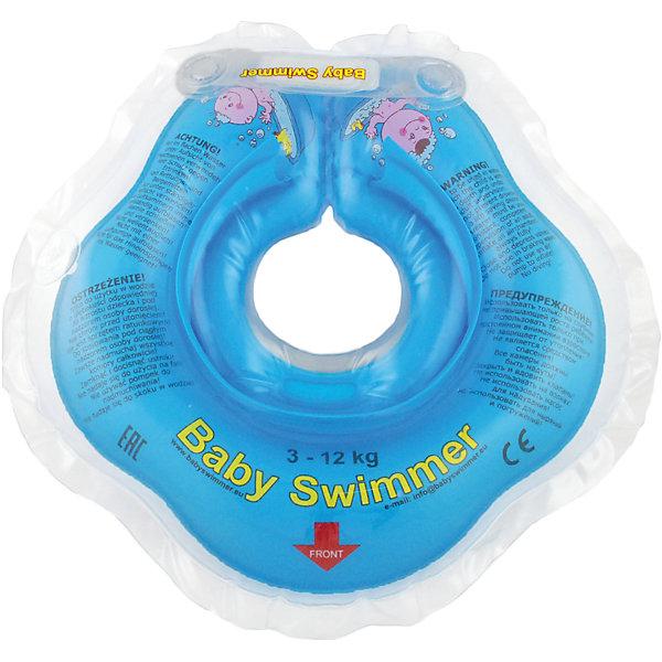 Круг для купания BabySwimmer, голубойТовары для купания<br>Купание младенца - ответственное и важное занятие. Круг для купания Baby Swimmer  обеспечит безопасность процесса, избавит малыша от страха воды и сделает водные процедуры веселой игрой. У круга есть устройство, поддерживающее подбородок, что позволит избежать проглатывание воды малышом. У круга яркие цвета, необычный дизайн и веселые картинки по бокам, которые понравится всем детям. Все материалы, использованные при разработке и изготовлении круга для купания безопасны для использования, отвечают всем требованиям экологичности и качества детских товаров, а так же гипоаллергенны.<br><br>Дополнительная информация:<br><br>модель: Baby Swimmer;<br>цвет: голубой.<br><br>Круг для купания Baby Swimmer можно приобрести в нашем магазине.<br>Ширина мм: 150; Глубина мм: 40; Высота мм: 150; Вес г: 140; Возраст от месяцев: 0; Возраст до месяцев: 24; Пол: Унисекс; Возраст: Детский; SKU: 4968094;