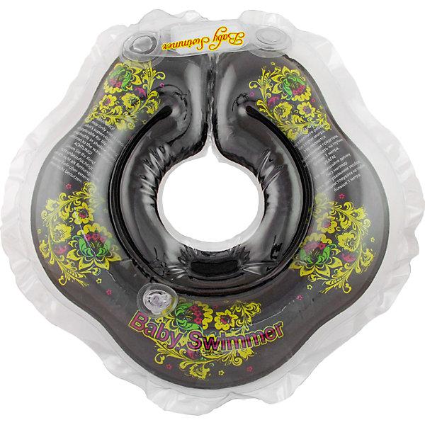 Круг для купания BabySwimmer, черный  - ХохломаТовары для купания<br>Купание младенца - ответственное и важное занятие. Круг для купания Baby Swimmer  с оригинальной расцветкой обеспечит безопасность процесса, избавит малыша от страха воды и сделает водные процедуры веселой игрой. У круга есть устройство, поддерживающее подбородок, что позволит избежать проглатывание воды малышом. У круга яркие цвета, необычный дизайн и веселые картинки по бокам, которые понравится всем детям. Все материалы, использованные при разработке и изготовлении круга для купания безопасны для использования, отвечают всем требованиям экологичности и качества детских товаров, а так же гипоаллергенны.<br><br>Дополнительная информация:<br><br>модель: Baby Swimmer;<br>цвет: черный - Хохлома.<br><br>Круг для купания Baby Swimmer можно приобрести в нашем магазине.<br><br>Ширина мм: 150<br>Глубина мм: 40<br>Высота мм: 150<br>Вес г: 160<br>Возраст от месяцев: 0<br>Возраст до месяцев: 24<br>Пол: Унисекс<br>Возраст: Детский<br>SKU: 4968105