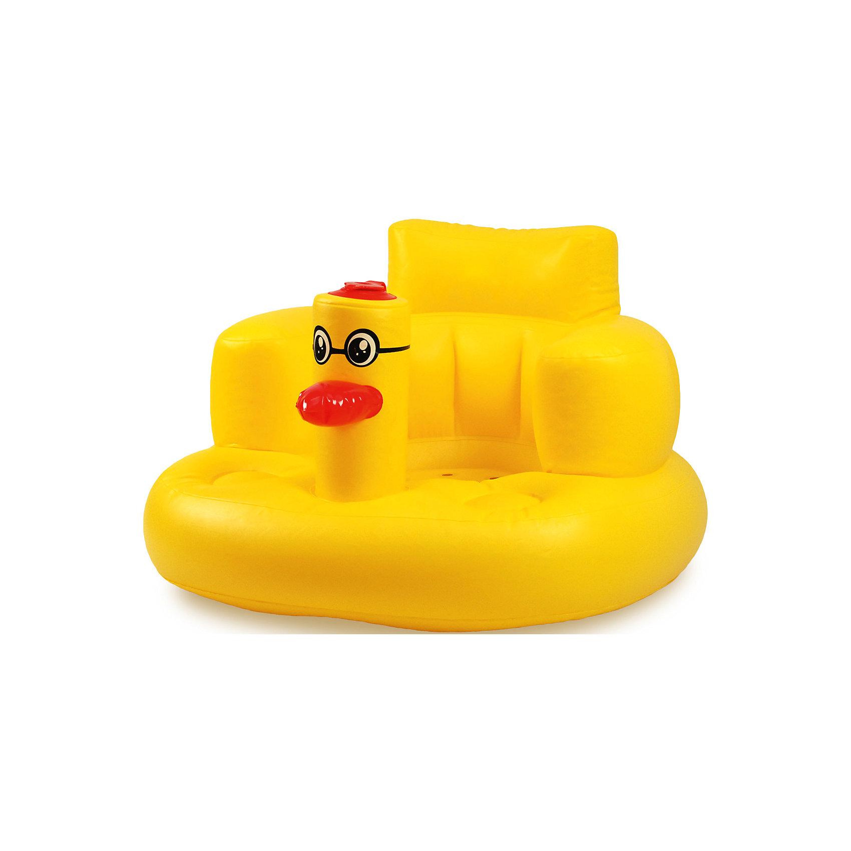 Надувное кресло для детей, BabySwimmerНадувное детское кресло придется по вкусу всем малышам, которые боятся купания. Кресло выполнено в форме веселой уточки, защищающей от мыльной воды личико малыша. У кресла высокая спинка, обеспечивающая комфорт при сидении и не дающая малышу упасть в воду. У модели отсутствуют выступающие швы, что делает кресло максимально комфортным. Модель сдувается до компактных размеров. Все материалы, использованные при разработке и изготовлении надувного детского кресла безопасны для использования, отвечают всем требованиям экологичности и качества детских товаров, а так же гипоаллергенны.<br><br>Дополнительная информация:<br><br>цвет: желтый.<br><br>Надувное детское кресло Baby Swimmer можно приобрести в нашем магазине.<br><br>Ширина мм: 220<br>Глубина мм: 70<br>Высота мм: 200<br>Вес г: 500<br>Возраст от месяцев: 6<br>Возраст до месяцев: 36<br>Пол: Унисекс<br>Возраст: Детский<br>SKU: 4968118