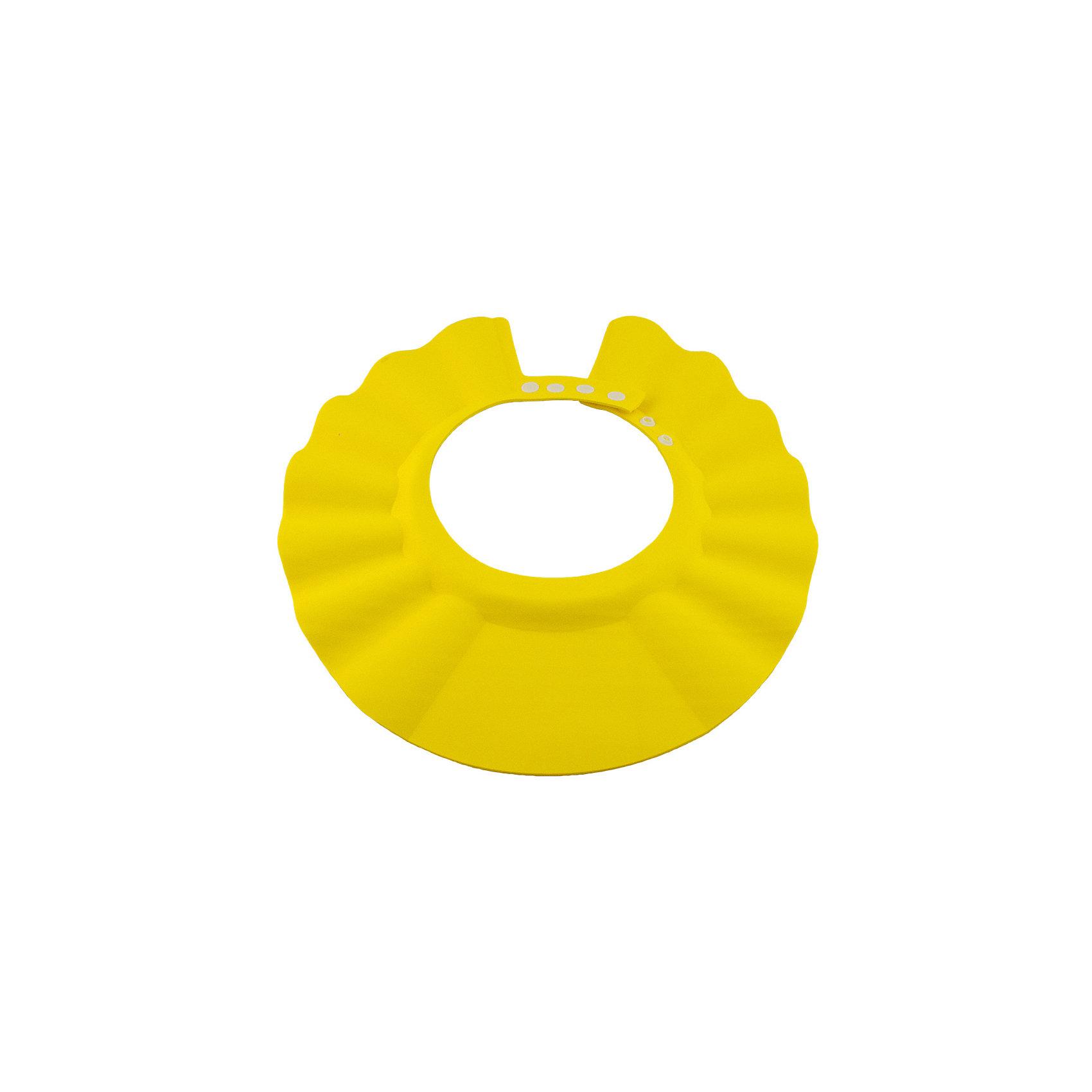 Козырек для душа, BabySwimmer, желтыйПрочие аксессуары<br>Многие малыши боятся купания и воды. причина проста. Им попадает в глазки мыльная вода, которая щиплет слизистую. Козырек для душа станет отличным решением данной проблемы. Конструкция прочно держится на голове, не сдавливая кожу и не доставляя дискомфорт. Глаза и уши ребенка будут всегда защищены от раздражающих жидкостей. Козырек можно использовать для детских парикмахерских услуг. Все материалы, использованные при разработке и изготовлении складной ванночки безопасны для использования, отвечают всем требованиям экологичности и качества детских товаров, а так же гипоаллергенны.<br><br>Дополнительная информация:<br><br>цвет: желтый.<br><br>Козырек для душа Baby Swimmer можно приобрести в нашем магазине.<br><br>Ширина мм: 310<br>Глубина мм: 25<br>Высота мм: 365<br>Вес г: 40<br>Возраст от месяцев: 0<br>Возраст до месяцев: 36<br>Пол: Унисекс<br>Возраст: Детский<br>SKU: 4968120
