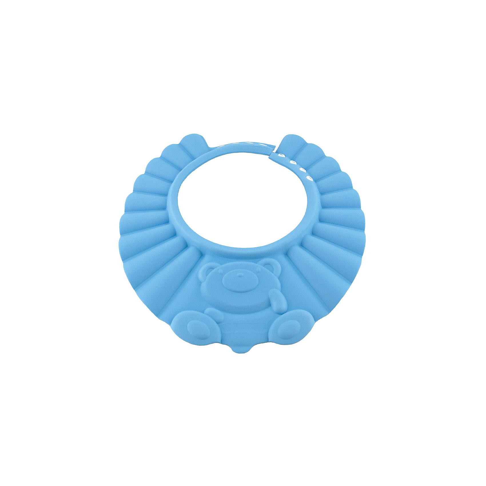 Козырек для душа, BabySwimmer, голубойПрочие аксессуары<br>Многие малыши боятся купания и воды. причина проста. Им попадает в глазки мыльная вода, которая щиплет слизистую. Козырек для душа станет отличным решением данной проблемы. Конструкция прочно держится на голове, не сдавливая кожу и не доставляя дискомфорт. Глаза и уши ребенка будут всегда защищены от раздражающих жидкостей. Козырек можно использовать для детских парикмахерских услуг. Все материалы, использованные при разработке и изготовлении складной ванночки безопасны для использования, отвечают всем требованиям экологичности и качества детских товаров, а так же гипоаллергенны.<br><br>Дополнительная информация:<br><br>цвет: голубой.<br><br>Козырек для душа Baby Swimmer можно приобрести в нашем магазине.<br><br>Ширина мм: 310<br>Глубина мм: 25<br>Высота мм: 365<br>Вес г: 40<br>Возраст от месяцев: 0<br>Возраст до месяцев: 36<br>Пол: Унисекс<br>Возраст: Детский<br>SKU: 4968122