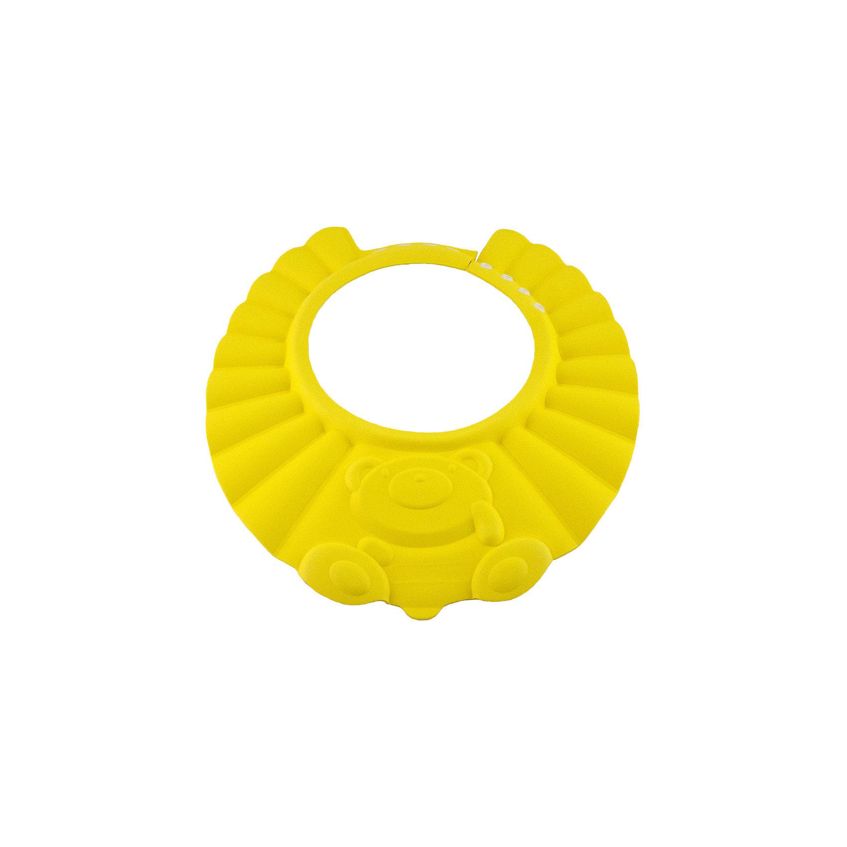 Козырек для душа, BabySwimmer, желтыйМногие малыши боятся купания и воды. причина проста. Им попадает в глазки мыльная вода, которая щиплет слизистую. Козырек для душа станет отличным решением данной проблемы. Конструкция прочно держится на голове, не сдавливая кожу и не доставляя дискомфорт. Глаза и уши ребенка будут всегда защищены от раздражающих жидкостей. Козырек можно использовать для детских парикмахерских услуг. Все материалы, использованные при разработке и изготовлении складной ванночки безопасны для использования, отвечают всем требованиям экологичности и качества детских товаров, а так же гипоаллергенны.<br><br>Дополнительная информация:<br><br>цвет: желтый.<br><br>Козырек для душа Baby Swimmer можно приобрести в нашем магазине.<br><br>Ширина мм: 310<br>Глубина мм: 25<br>Высота мм: 365<br>Вес г: 40<br>Возраст от месяцев: 0<br>Возраст до месяцев: 36<br>Пол: Унисекс<br>Возраст: Детский<br>SKU: 4968123