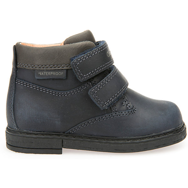 Ботинки для мальчика GEOXБотинки<br>Ботинки для мальчика GEOX (ГЕОКС)<br>Ботинки для мальчика от GEOX (ГЕОКС) выполнены из натуральной кожи. Внутренняя отделка и стелька из натуральной шерсти создают оптимальный микроклимат, который держит ноги теплыми и сухими, и позволяет им дышать естественно. Колодка соответствует анатомическим особенностям строения детской стопы. Запатентованная гибкая перфорированная подошва со специальной микропористой мембраной обеспечивает естественное дыхание обуви, не пропускает воду. Застежка: липучки.<br><br>Дополнительная информация:<br><br>- Сезон: демисезон<br>- Цвет: черный<br>- Материал верха: натуральная кожа<br>- Внутренний материал: натуральная шерсть<br>- Материал стельки: натуральная шерсть<br>- Материал подошвы: полимер<br>- Тип застежки: липучки<br>- Материалы и продукция прошли специальную проверку T?V S?D, на отсутствие веществ, опасных для здоровья покупателей<br><br>Полусапоги GEOX (ГЕОКС) можно купить в нашем интернет-магазине.<br><br>Ширина мм: 257<br>Глубина мм: 180<br>Высота мм: 130<br>Вес г: 420<br>Цвет: синий<br>Возраст от месяцев: 18<br>Возраст до месяцев: 21<br>Пол: Мужской<br>Возраст: Детский<br>Размер: 23,27,26,25,24<br>SKU: 4968236