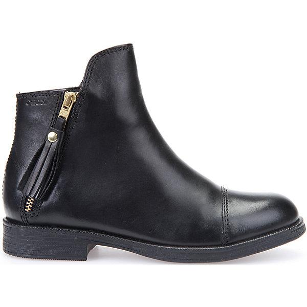 Купить Ботинки для девочки Geox, Индия, черный, 31, 30, 39, 38, 37, 36, 35, 34, 33, 32, Женский