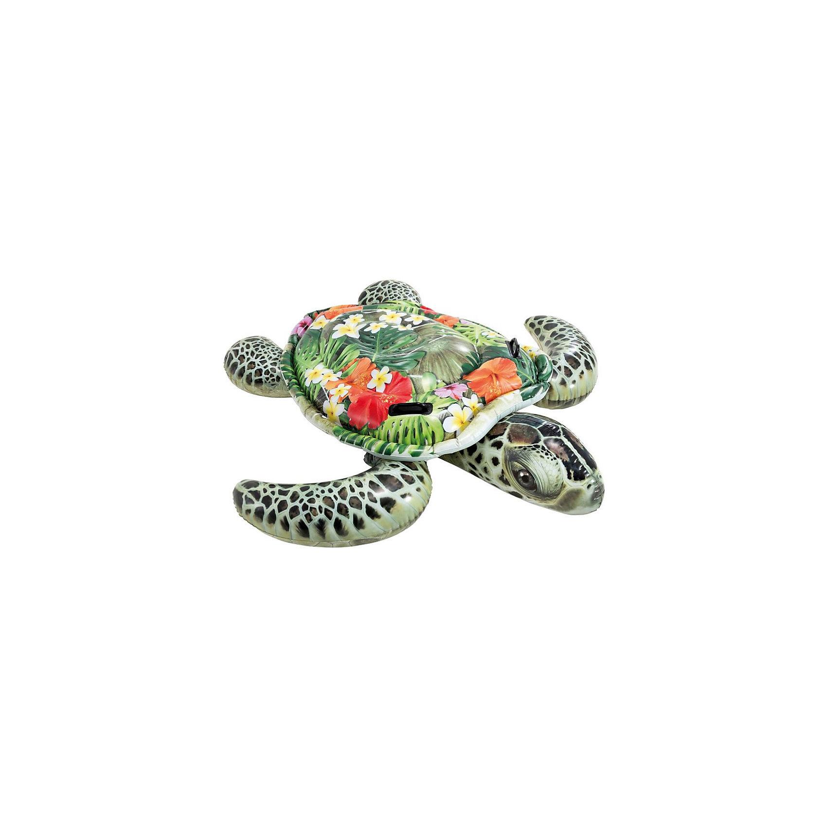 Надувная игрушка-плот Морская черепаха, с ручками, IntexМатрасы и лодки<br>Характеристики товара:<br><br>• цвет: зеленый<br>• возраст: от 3 лет<br>• материал: ПВХ, толщиной 0.30мм<br>• размер 191х170см<br>• 2 воздушные камеры<br>• дополнительная устойчивая конструкция<br>• 2 пластиковых ручки<br>• ремонтный комплект<br><br>Морская надувная черепаха с ручками Intex - красивый детский надувной плот-матрас для детей. <br><br>Широкий панцырь, на который можно забраться и весело покататься на большой черепахе, держась за две ручки!<br><br>Подойдет как для бассейнов, так и для открытой воды. <br><br>Рисунок очень реалистичен, верх игрушки имеет рельефные выступы, имитируя панцырь черепахи.<br><br>Надувную игрушку-плот Морская черепаха, с ручками, Intex можно купить в нашем интернет-магазине.<br><br>Ширина мм: 95<br>Глубина мм: 267<br>Высота мм: 244<br>Вес г: 1808<br>Цвет: зеленый<br>Возраст от месяцев: 36<br>Возраст до месяцев: 1164<br>Пол: Унисекс<br>Возраст: Детский<br>SKU: 4968677