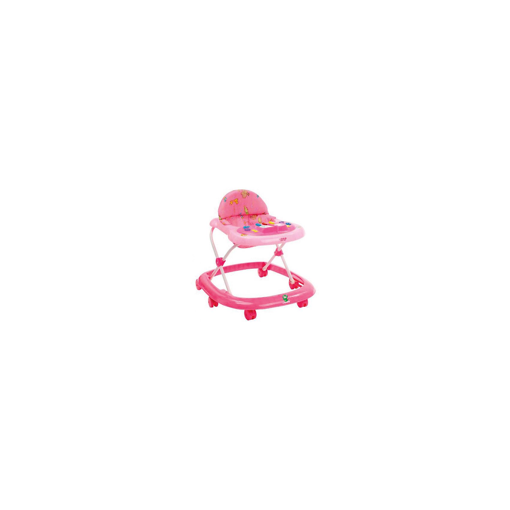 Ходунки LXB103H H382PP, Happy Dino, розовый