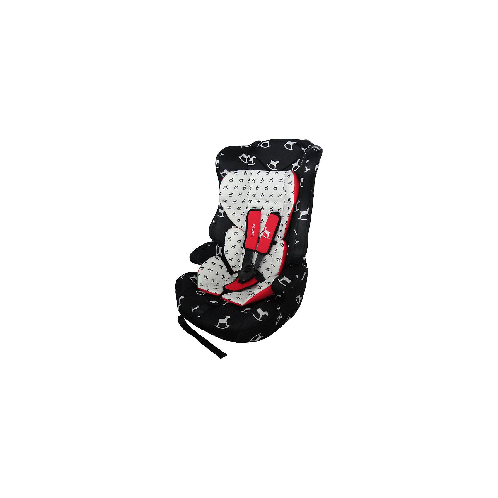 Автокресло Logs Seat 9-36 кг., Babyhit, чёрно-белая с лошадкамиАвтокресло BabyHit Logs seat LB513 черно-белое с лошадками - универсальное детское кресло, обеспечит удобство и безопасность ребенку. Кресло крепится по ходу движения на сиденье автомобиля с помощью штатных ремней (диагонального и поясничного). Спинка кресла регулируется, что  позволяет малышу сохранять анатомическое положение и комфортно засыпать в дороге. Модель - бюджетная, однако производителем предусмотрены следующие важные функции: защитные стенки для головы, систему защиты от бокового удара, регулируемые плечевые ремни с надежным креплением. Изделие рассчитано на долгосрочную эксплуатацию, по мере роста ребенка его можно трансформировать в бустер, сняв спинку.<br><br>ОСОБЕННОСТИ:<br><br>- изготовлено из высокопрочных материалов<br>- устанавливается по ходу движения<br>- крепление  при помощи штатных автомобильных ремней  <br>- анатомическая форма кресла с удобными подлокотниками<br>- 3 позиции высоты<br>- угол наклона спинки регулируется в трех положениях<br>- регулируемые по высоте встроенные пятиточечные ремни<br>- мягкий вкладыш на сиденье и плечевые накладки на ремнях<br>- съемный чехол<br>- допустима стирка при температуре до 30°<br>- возможность применения без спинки как бустер<br>- соответствует Европейским стандартам безопасности ECE R44/04<br><br>Дополнительная информация:<br><br>- допустимый вес ребенка: от 9 до 36 кг<br>- материал: пластик, металл, текстиль<br>- цвет: horses (черно-белый с лошадками)<br>- размеры (ГхШхВ): 50*40*80 см<br>- вес изделия: 5 кг<br>- возраст ребенка: от 1 года до 12 лет<br>- страна производства: Китай<br><br>Автокресло Logs Seat 9-36 кг., Babyhit  можно купить в нашем интернет-магазине.<br><br>Ширина мм: 500<br>Глубина мм: 440<br>Высота мм: 780<br>Вес г: 6000<br>Возраст от месяцев: 6<br>Возраст до месяцев: 144<br>Пол: Унисекс<br>Возраст: Детский<br>SKU: 4968974