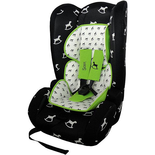 Автокресло BabyHit Sider 9-36 кг, чёрный в белую лошадкуГруппа 1-2-3  (от 9 до 36 кг)<br>Характеристики:<br><br>• группа автокресла: 1/2/3;<br>• вес ребенка: 9-36 кг;<br>• возраст ребенка: от 9 месяцев до 12 лет;<br>• способ крепления: штатные ремни безопасности;<br>• способ установки: по ходу движения автомобиля;<br>• стандарт безопасности: ЕСЕ R44/04.<br><br>Особенности автокресла: <br><br>• встроенные 5-ти точечные ремни безопасности;<br>• усиленная защита от боковых ударов;<br>• имеются защитные стенки для головы;<br>• имеется мягкий анатомический вкладыш для малыша;<br>• функция бустера: спинка снимается, остается сиденье-бустер для ребенка, вес которого находится в пределах 22-36 кг;<br>• чехол можно снять и постирать при температуре 30 градусов.<br><br>Размер автокресла: 50х44х79 см<br>Вес автокресла: 6 кг<br><br>Автокресло SIDER 9-36 кг, Babyhit, цвет чёрный в белую лошадку можно купить в нашем интернет-магазине.<br>Ширина мм: 500; Глубина мм: 440; Высота мм: 780; Вес г: 6000; Возраст от месяцев: 6; Возраст до месяцев: 144; Пол: Унисекс; Возраст: Детский; SKU: 4968978;