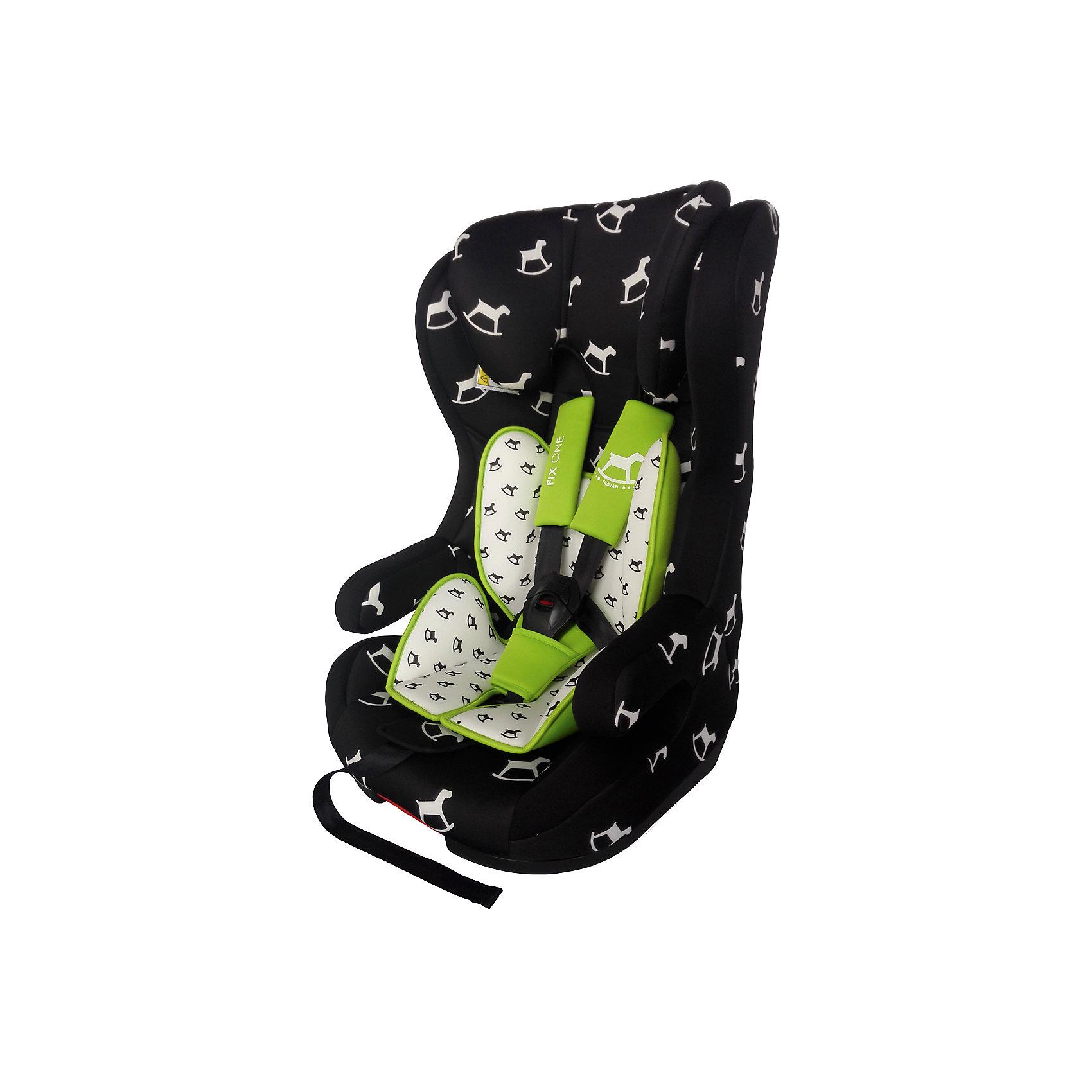 Автокресло Fix One 9-36 кг., Babyhit, чёрно-белая с лошадкамиАвтокресло Babyhit Fix One (1/2/3) - отличный вариант для малыша и практичный – для родителей. Данная модель может быть установлена по ходу движения авто. Обивку кресла легко можно снять и постирать в деликатном режиме при 30 градусах.  Пятиточечные ремни безопасности аккуратно, но надежно удерживают ребенка  и регулируются по высоте и глубине. Кресло оснащено системой защиты при боковом столкновении, так же есть защитные стенки для головы. Детское автомобильное кресло Babyhit Fix One  будет оптимальным выбором внимательных родителей!<br><br>ОСОБЕННОСТИ:<br><br>• устанавливается по направлению движения и подходит для детей от 9 до 36 кг;<br>• система защиты при боковом столкновении;<br>• 5-ти точечные ремни безопасности;<br>• высокопрочный материал;<br>• мягкий вкладыш;<br>• съемный чехол;<br>• система крепления isofix<br>• соответствует европейским стандартам безопасности ECE R 44/04.<br><br>Дополнительная информация:<br><br>- для детей от 1 года до 12 лет (от 9 до 36 кг.)<br>- съемный чехол<br>- выраженная боковая защита<br>- мягкий вкладыш<br>- 5-ти точечные ремни безопасности<br>- регулировка ремней по глубине и высоте<br>- система крепления Isofix<br><br>Автокресло  Babyhit Fix One 9-36 кг., можно купить в нашем интернет-магазине.<br><br>Ширина мм: 500<br>Глубина мм: 440<br>Высота мм: 780<br>Вес г: 9000<br>Возраст от месяцев: 6<br>Возраст до месяцев: 144<br>Пол: Унисекс<br>Возраст: Детский<br>SKU: 4968981