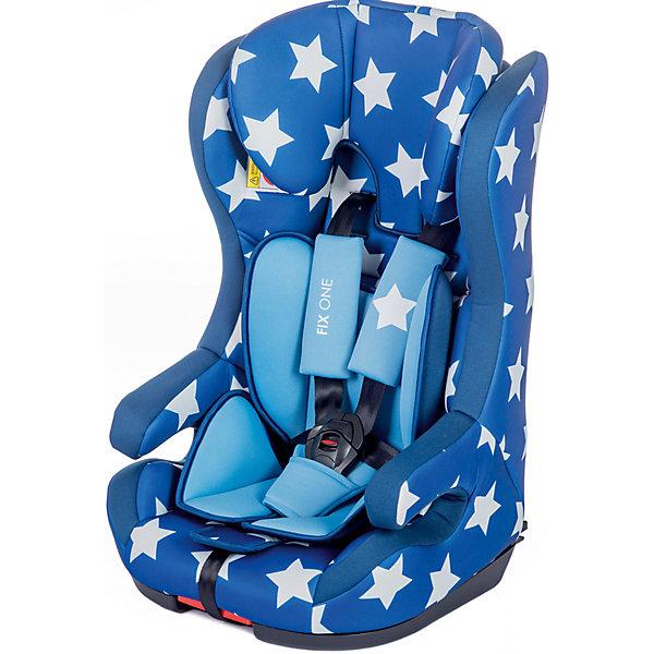 Автокресло BabyHit Fix One 9-36 кг, синий в белую звёздочкуГруппа 1-2-3  (от 9 до 36 кг)<br>Характеристики:<br><br>• группа автокресла: 1/2/3;<br>• вес ребенка: 9-36 кг;<br>• возраст ребенка: от 9 месяцев до 12 лет;<br>• способ крепления: Isofix;<br>• способ установки: по ходу движения автомобиля;<br>• стандарт безопасности: ЕСЕ R44/04.<br><br>Особенности автокресла: <br><br>• регулируемая высота подголовника;<br>• мягкий вкладыш, подголовник, подлокотники;<br>• встроенные 5-ти точечные ремни безопасности с мягкими накладками;<br>• регулировка ремней по длине и высоте;<br>• усиленная система боковой защиты;<br>• съемный чехол, стирка при температуре 30 градусов.<br><br>Размер автокресла: 50х46х88 см<br>Вес автокресла: 4,5 кг<br><br>Автокресло FIX ONE 9-36 кг, Babyhit, синий в белую звёздочку можно купить в нашем интернет-магазине.<br>Ширина мм: 500; Глубина мм: 440; Высота мм: 780; Вес г: 9000; Возраст от месяцев: 6; Возраст до месяцев: 144; Пол: Мужской; Возраст: Детский; SKU: 4968983;