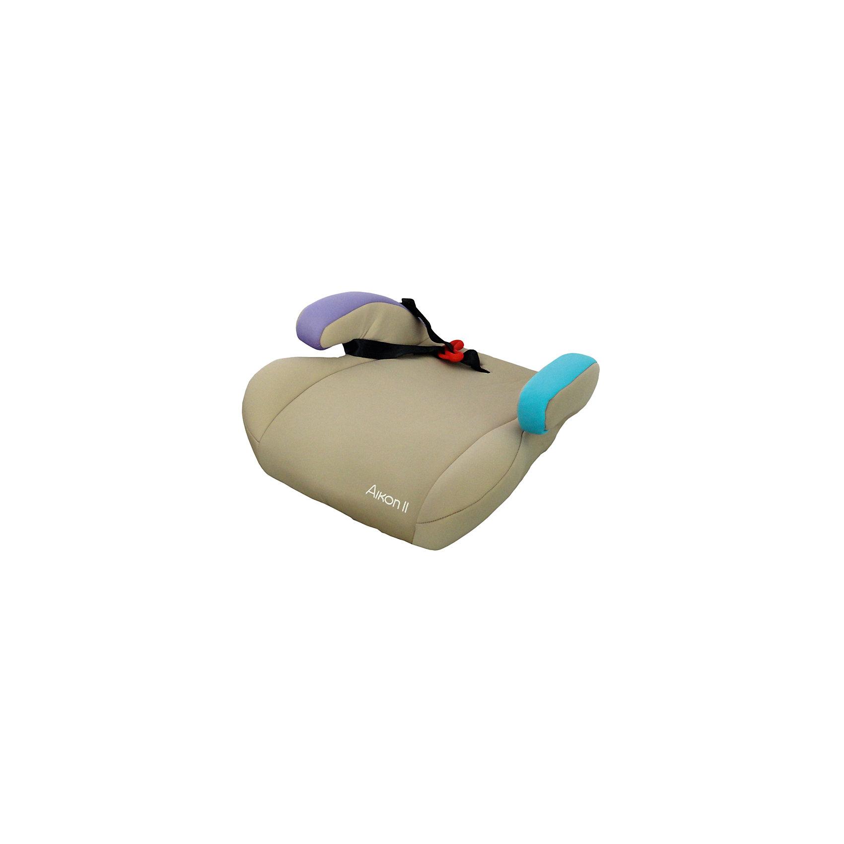 Автокресло-бустер AIKON 2 LB781, Babyhit, бежевыйАвтокресло-бустер Aikon - бустер для самых взрослых деток, который крепится с помощью штатных ремней безопасности. Бустер широкий, поэтому любой ребенок почувствует себя свободно. Бустер крепится вместе с ребенком на штатный ремень. Он ни в коем случае не должен касаться шеи. При правильном использовании бустера ремень безопасности должен проходить через плечо ребенка. Закрепляя ремень безопасности на «рожках» детского сиденья, обязательно максимально натяните его и следите за тем, чтобы он не проходил  через живот. И самое главное: ремень безопасности должен всегда проходить через ребенка! Ни в коем случае нельзя пропускать штатную ленту только через «рожки» бустера. Материал легко чистить и при этом он достаточно устойчив к загрязнениям.<br><br>ОСОБЕННОСТИ:<br><br>• устанавливается по направлению движения;<br>• ремень для дополнительной фиксации штатных ремней безопасности автомобиля;<br>• высокопрочный материал;<br>• съемный чехол;<br>• соответствует европейским стандартам безопасности ECE R44/04;<br>• группа автокресел 3 (от 15 до 36 кг) от 4 лет.<br><br>Дополнительная информация:<br><br>- 3 группа (от 15 до 36 кг);<br>- бустер;<br>- установка лицом вперед;<br>- вес 1.5 кг.<br><br>Автокресло-бустер Aikon 9-36 кг., можно купить в нашем интернет-магазине.<br><br>Ширина мм: 500<br>Глубина мм: 440<br>Высота мм: 780<br>Вес г: 1300<br>Возраст от месяцев: 72<br>Возраст до месяцев: 144<br>Пол: Унисекс<br>Возраст: Детский<br>SKU: 4968984
