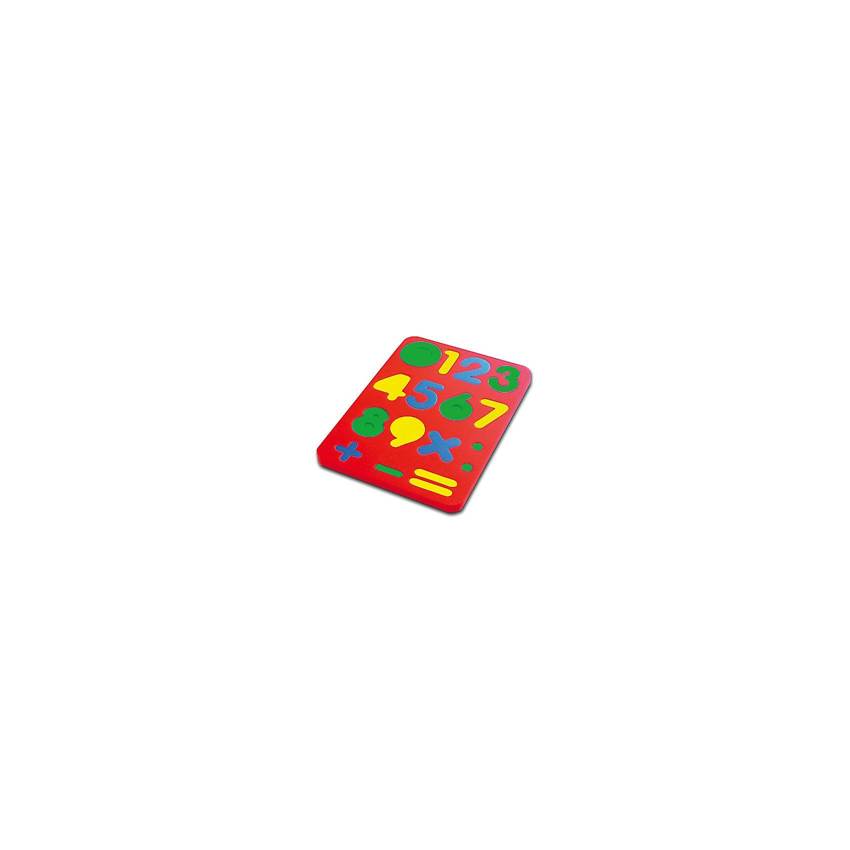 Цифры, Мир деревянных игрушекИзучать цифры можно в игровой форме! Специально для самых маленьких разработаны сортеры, сделанные из вспененного легкого приятного на ощупь материала. Вставляя цифры в рамки, малыш будет запоминать их, учиться соотносить фигуры, распознавать цвета, развивать пространственное мышление, память и мелкую моторику. Этот пазл произведен из качественных и безопасных для детей материалов.<br><br>Дополнительная информация:<br><br>цвет: разноцветный;<br>материал: вспененный полимер;<br>размер упаковки: 23 x 17 x 7 см.<br><br>Пазл Цифры от бренда Бомик можно купить в нашем магазине.<br><br>Ширина мм: 140<br>Глубина мм: 5<br>Высота мм: 205<br>Вес г: 357<br>Возраст от месяцев: 36<br>Возраст до месяцев: 84<br>Пол: Унисекс<br>Возраст: Детский<br>SKU: 4968997