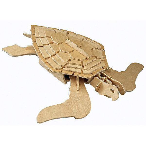 Морская черепаха, Мир деревянных игрушекДеревянные модели<br>Развивать свои способности ребенок может, играя! Специально для любящих творчество и интересующихся животным миром были разработаны эти 3D-пазлы. Из них получаются красивые очень реалистичные фигуры, которые могут стать украшением комнаты.<br>Собирая их, ребенок будет учиться соотносить фигуры, развивать пространственное мышление, память и мелкую моторику. А раскрашивая готовое произведение, дети научатся подбирать цвета и будут развивать художественные навыки. Этот набор произведен из качественных и безопасных для детей материалов.<br><br>Дополнительная информация:<br><br>материал: дерево;<br>элементы: четыре пластины с деталями для сборки;<br>размер пластины: 23 х 18 х 1 см.<br><br>3D-пазл Морская черепаха от бренда Мир деревянных игрушек можно купить в нашем магазине.<br>Ширина мм: 350; Глубина мм: 30; Высота мм: 225; Вес г: 400; Возраст от месяцев: 36; Возраст до месяцев: 144; Пол: Унисекс; Возраст: Детский; SKU: 4969006;