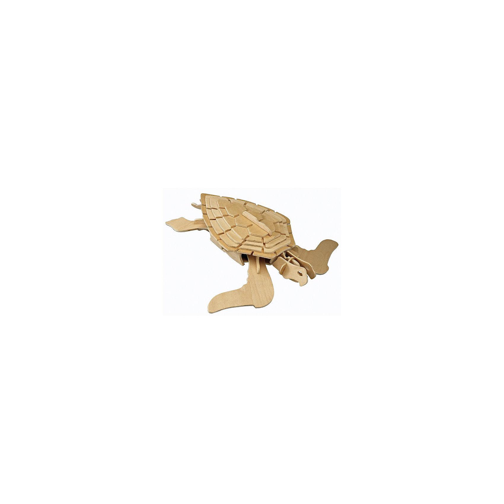 Морская черепаха, Мир деревянных игрушекДеревянные модели<br>Развивать свои способности ребенок может, играя! Специально для любящих творчество и интересующихся животным миром были разработаны эти 3D-пазлы. Из них получаются красивые очень реалистичные фигуры, которые могут стать украшением комнаты.<br>Собирая их, ребенок будет учиться соотносить фигуры, развивать пространственное мышление, память и мелкую моторику. А раскрашивая готовое произведение, дети научатся подбирать цвета и будут развивать художественные навыки. Этот набор произведен из качественных и безопасных для детей материалов.<br><br>Дополнительная информация:<br><br>материал: дерево;<br>элементы: четыре пластины с деталями для сборки;<br>размер пластины: 23 х 18 х 1 см.<br><br>3D-пазл Морская черепаха от бренда Мир деревянных игрушек можно купить в нашем магазине.<br><br>Ширина мм: 350<br>Глубина мм: 30<br>Высота мм: 225<br>Вес г: 400<br>Возраст от месяцев: 36<br>Возраст до месяцев: 144<br>Пол: Унисекс<br>Возраст: Детский<br>SKU: 4969006